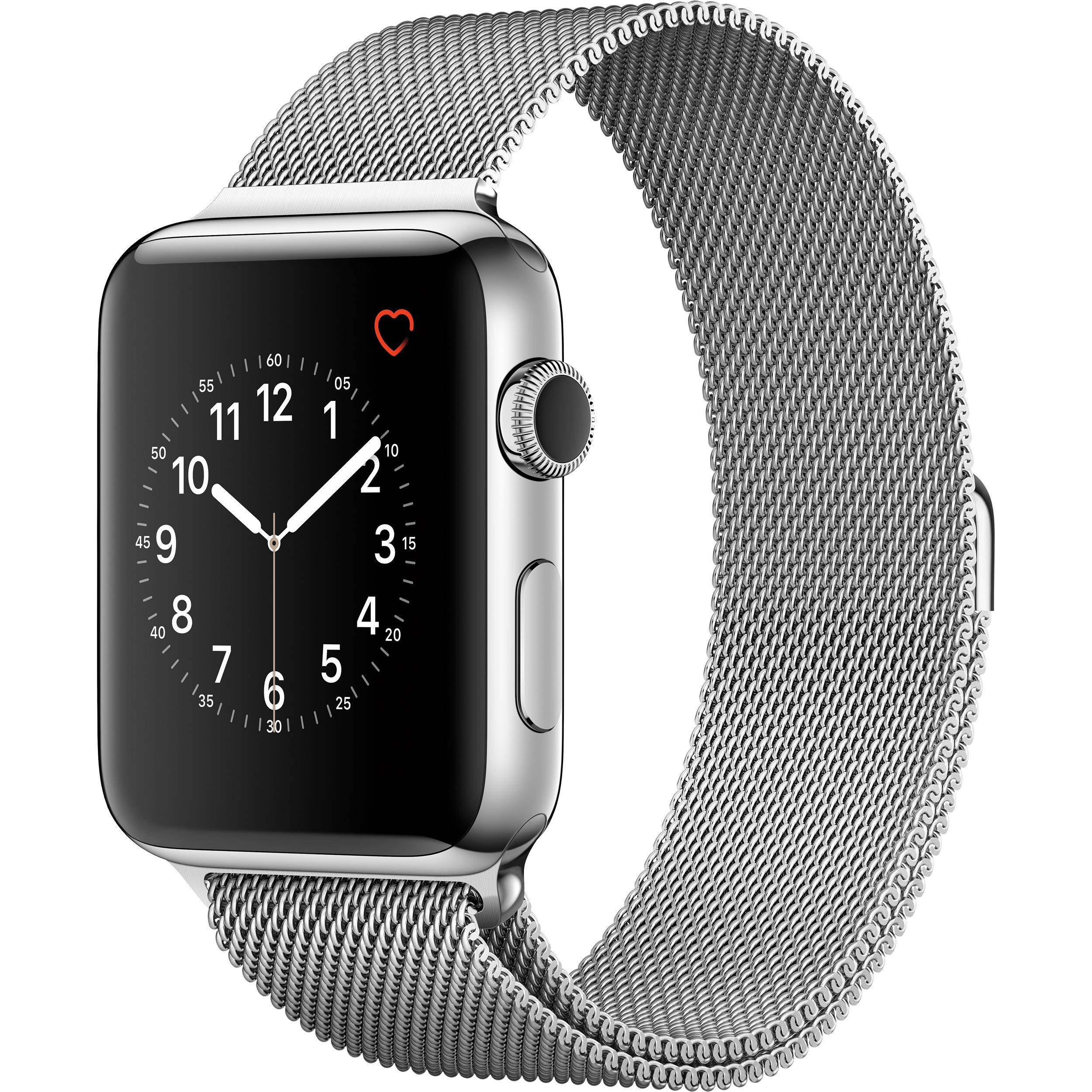 sports shoes 1ffbc 9e04f Apple Watch Series 2 42mm Smartwatch ( Stainless Steel Case, Milanese Loop  Band)