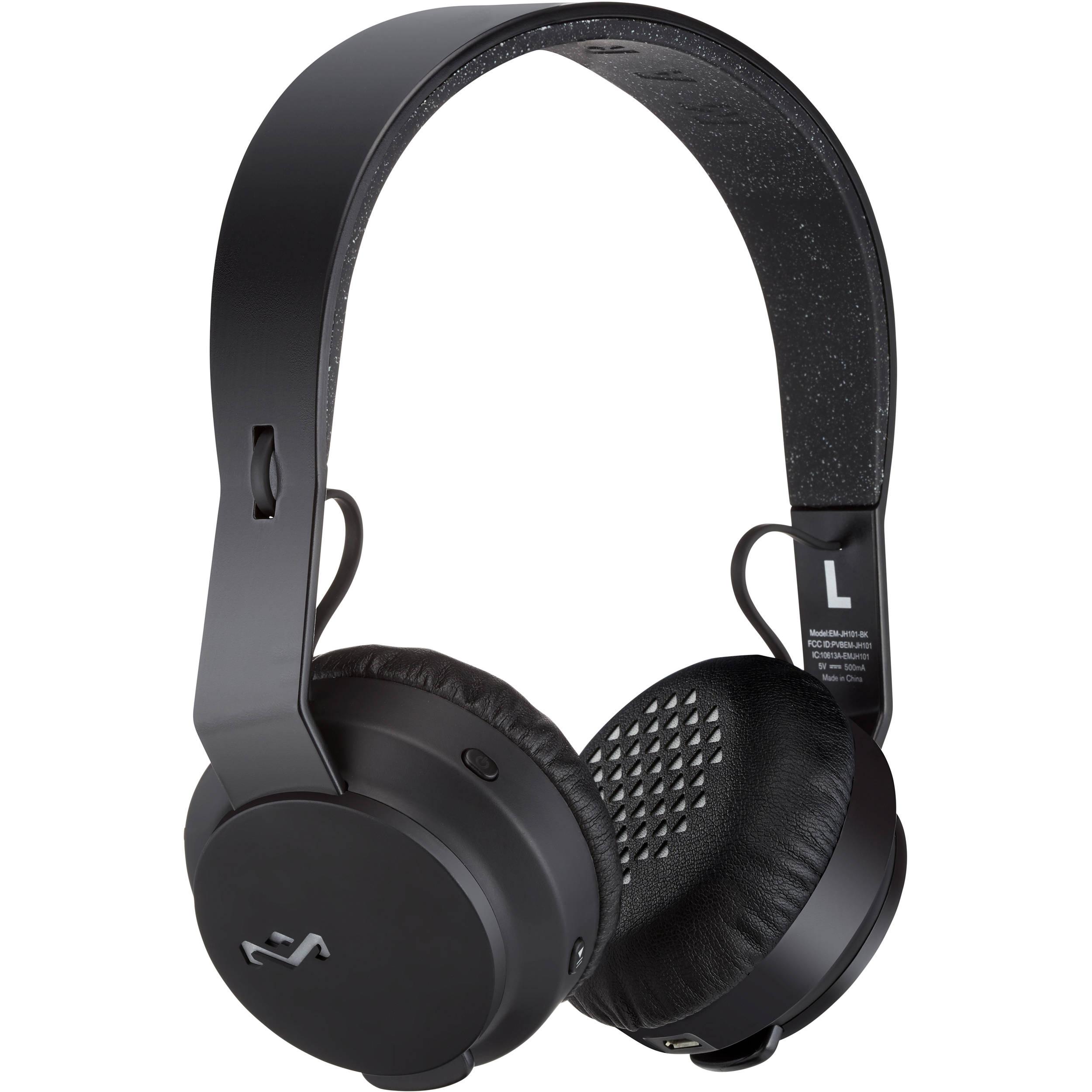 House of Marley The Rebel BT On-Ear Wireless Bluetooth Headphones (Black)