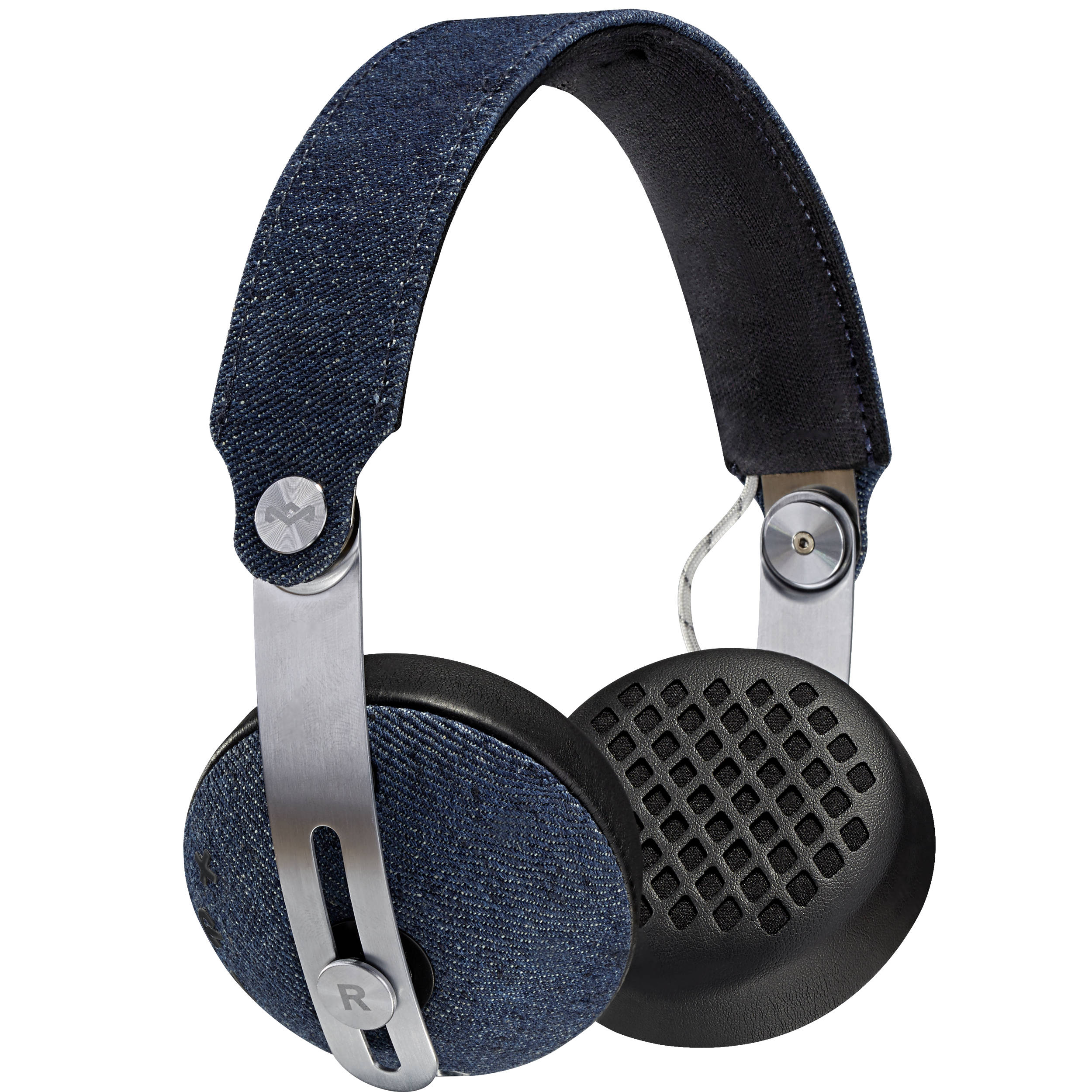 House of Marley Rise BT Wireless On-Ear Headphones (Denim)