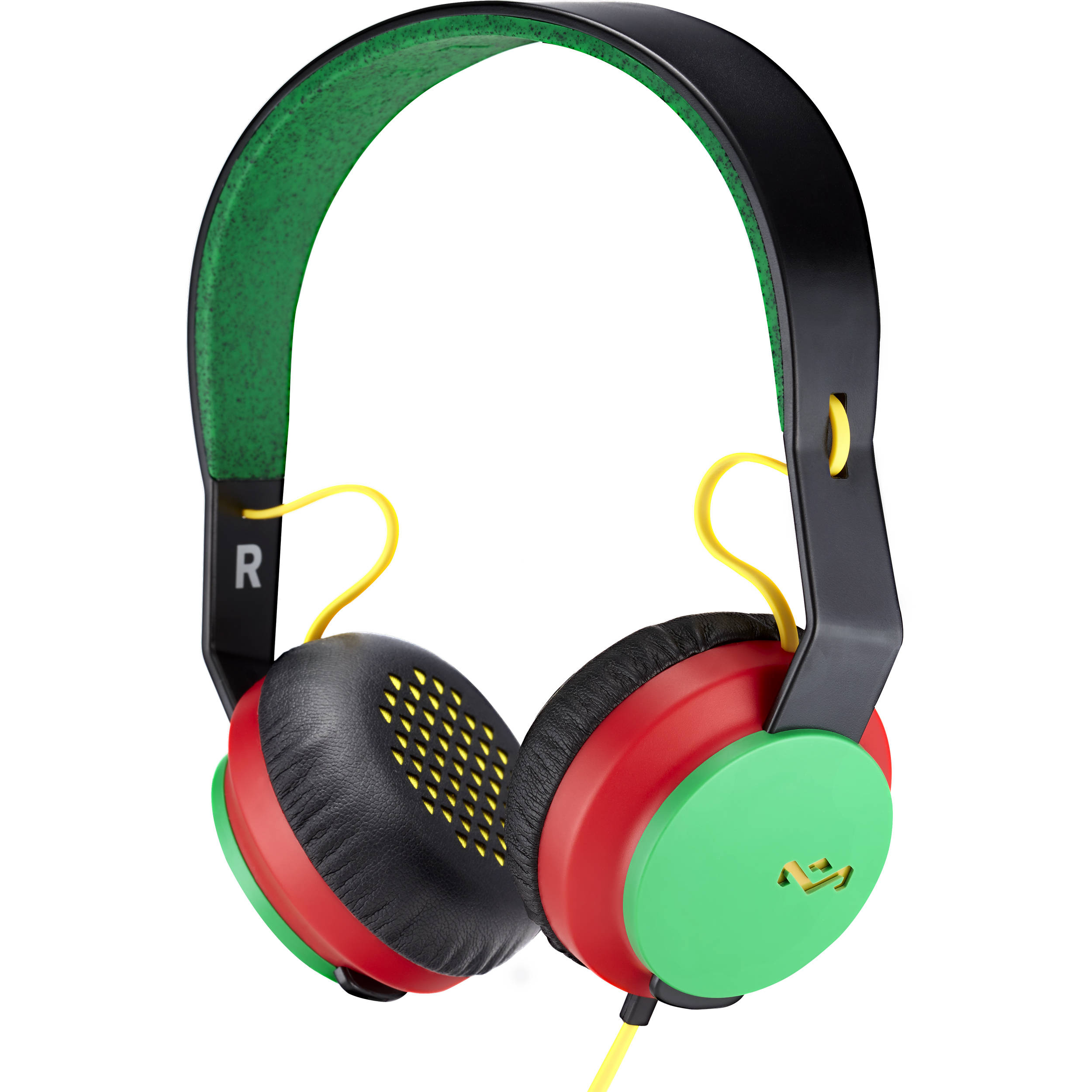House of Marley EM-JH081 Rebel On-Ear Headphones (Rasta)
