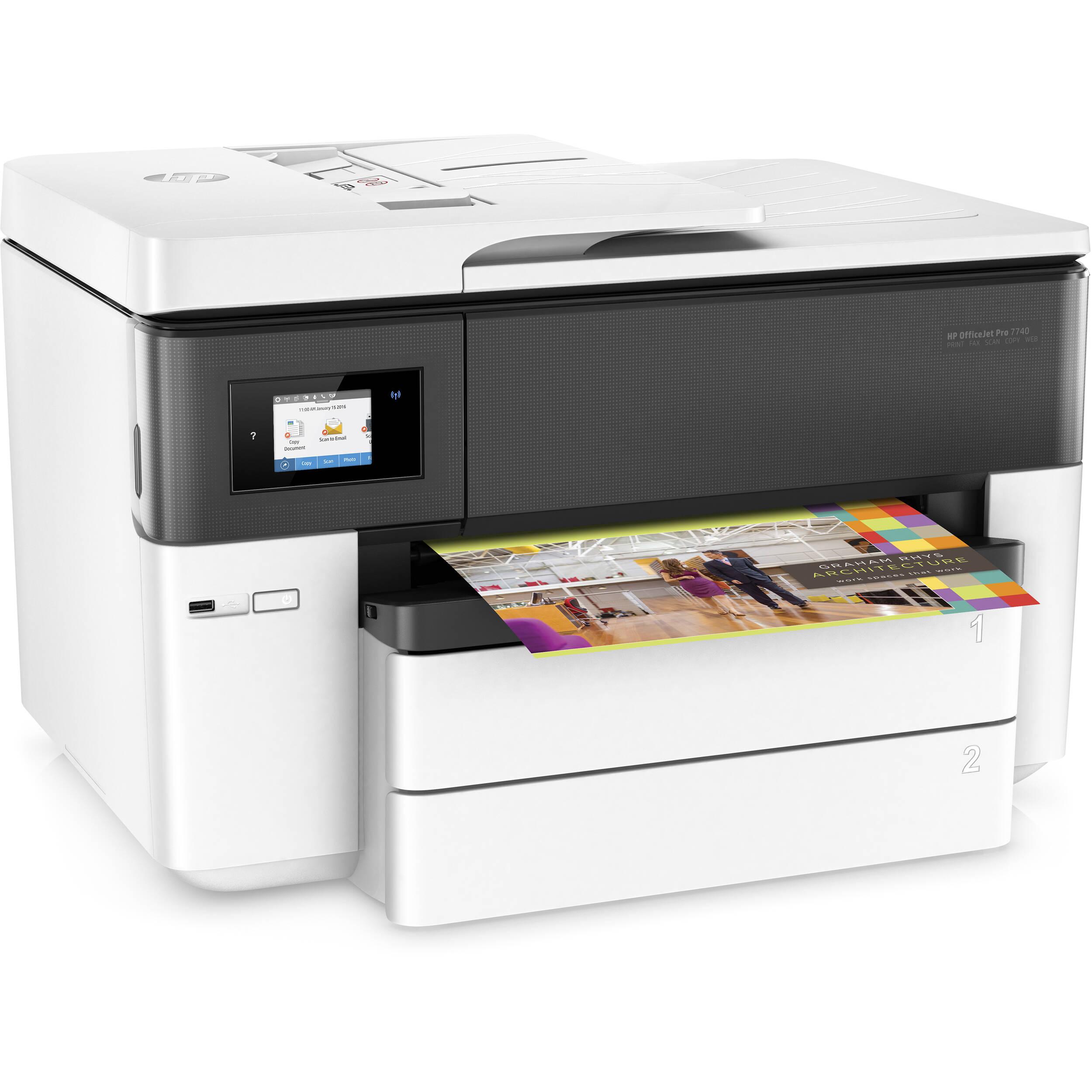 HP OfficeJet Pro 7740 Wide Format All-In-One Inkjet Printer