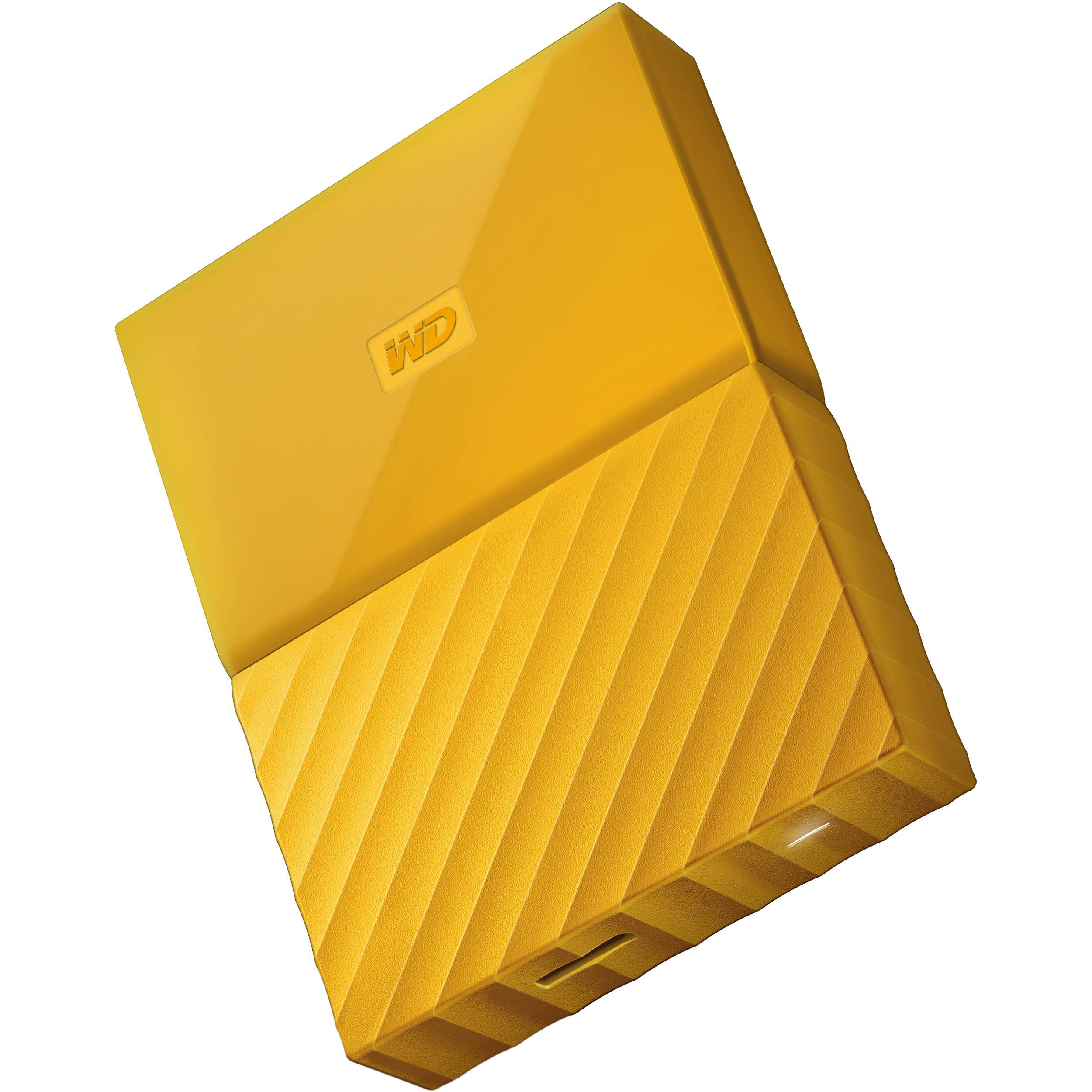 WD 2TB My Passport USB 3 0 Secure Portable Hard Drive (Yellow)