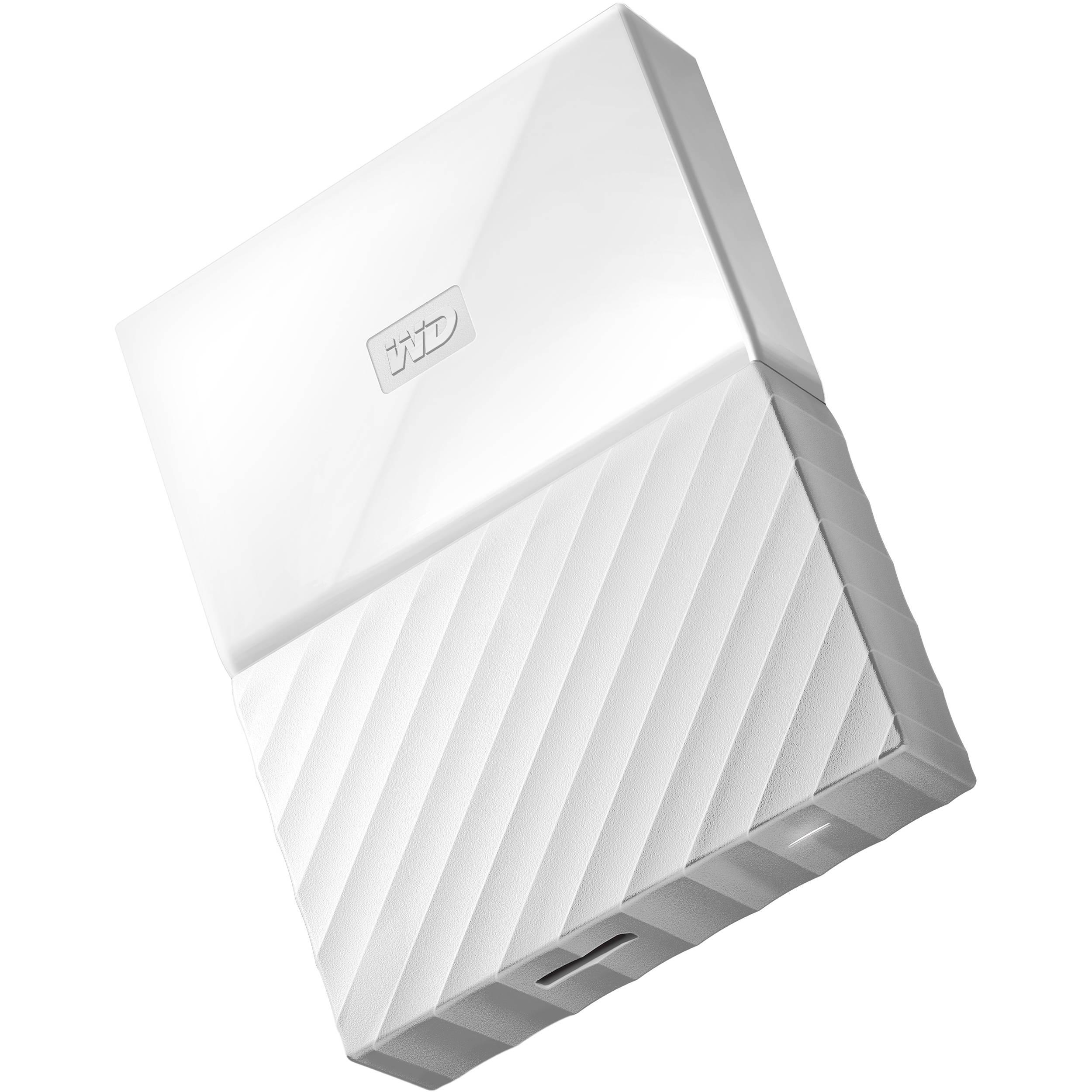 WD 4TB My Passport USB 3 0 Secure Portable Hard Drive (White)