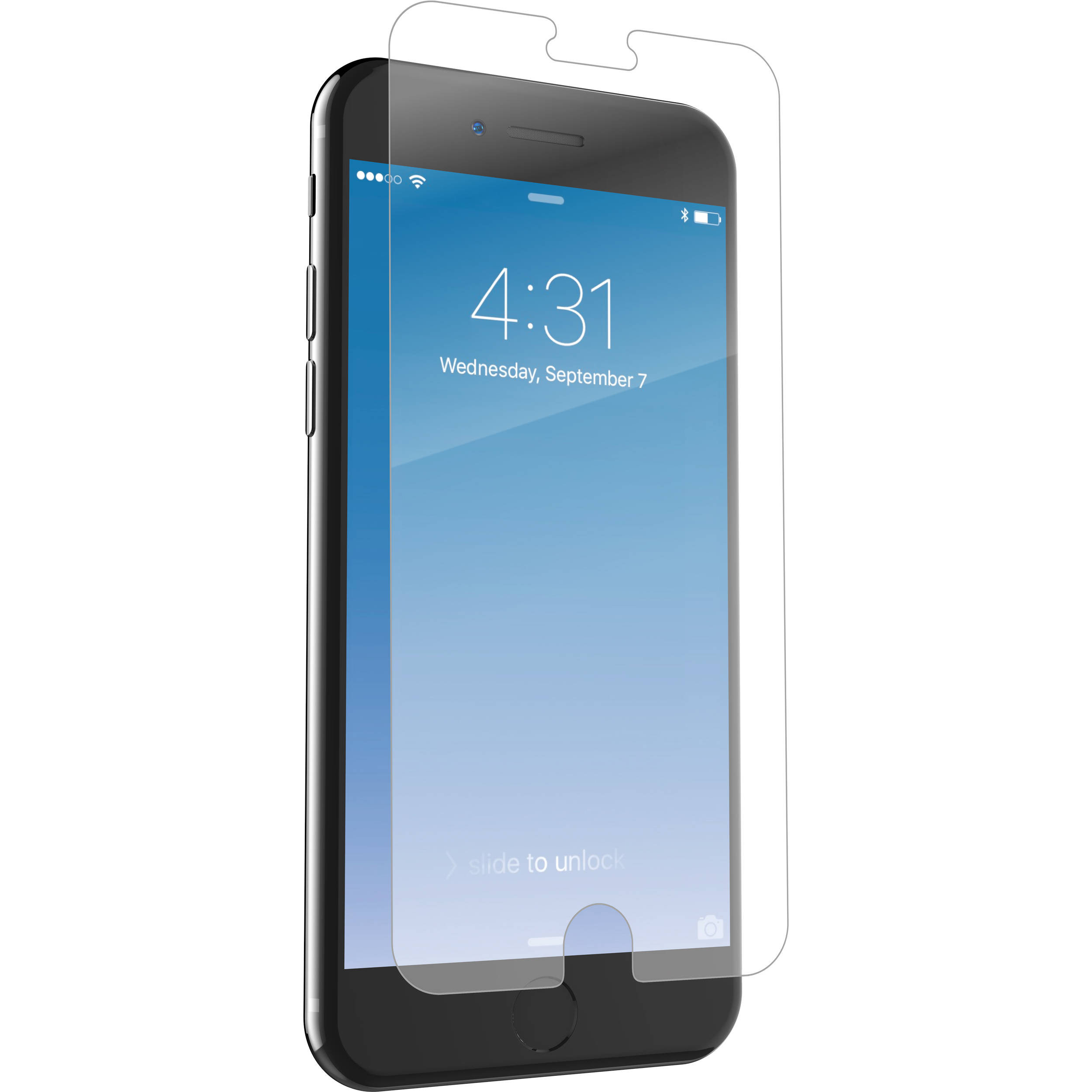 sale retailer 5dfe7 ee9a6 ZAGG InvisibleShield Glass+ Screen Protector for iPhone 6 Plus/6s Plus/7  Plus/8 Plus