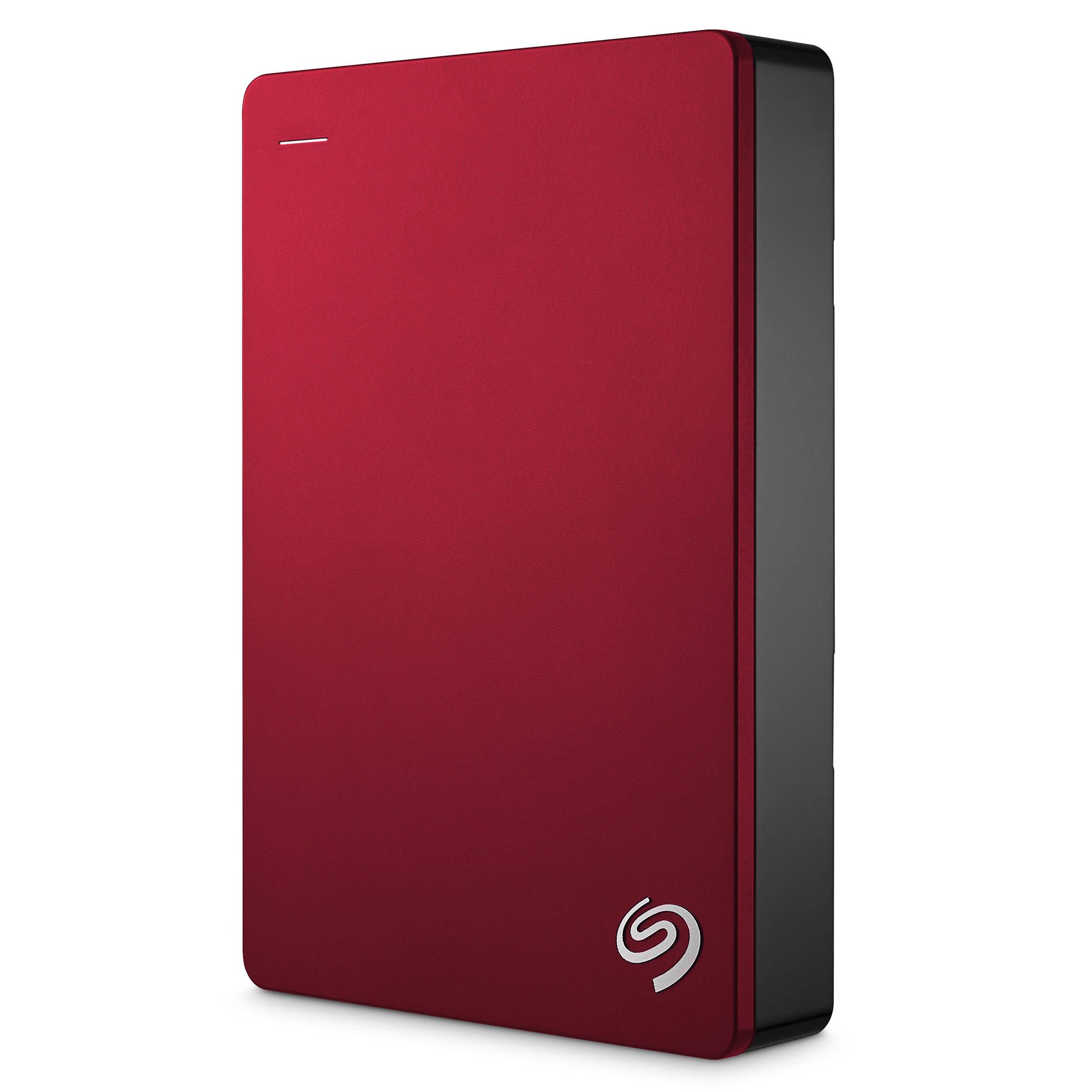 Seagate 5TB Backup Plus Portable Hard Drive (Red)