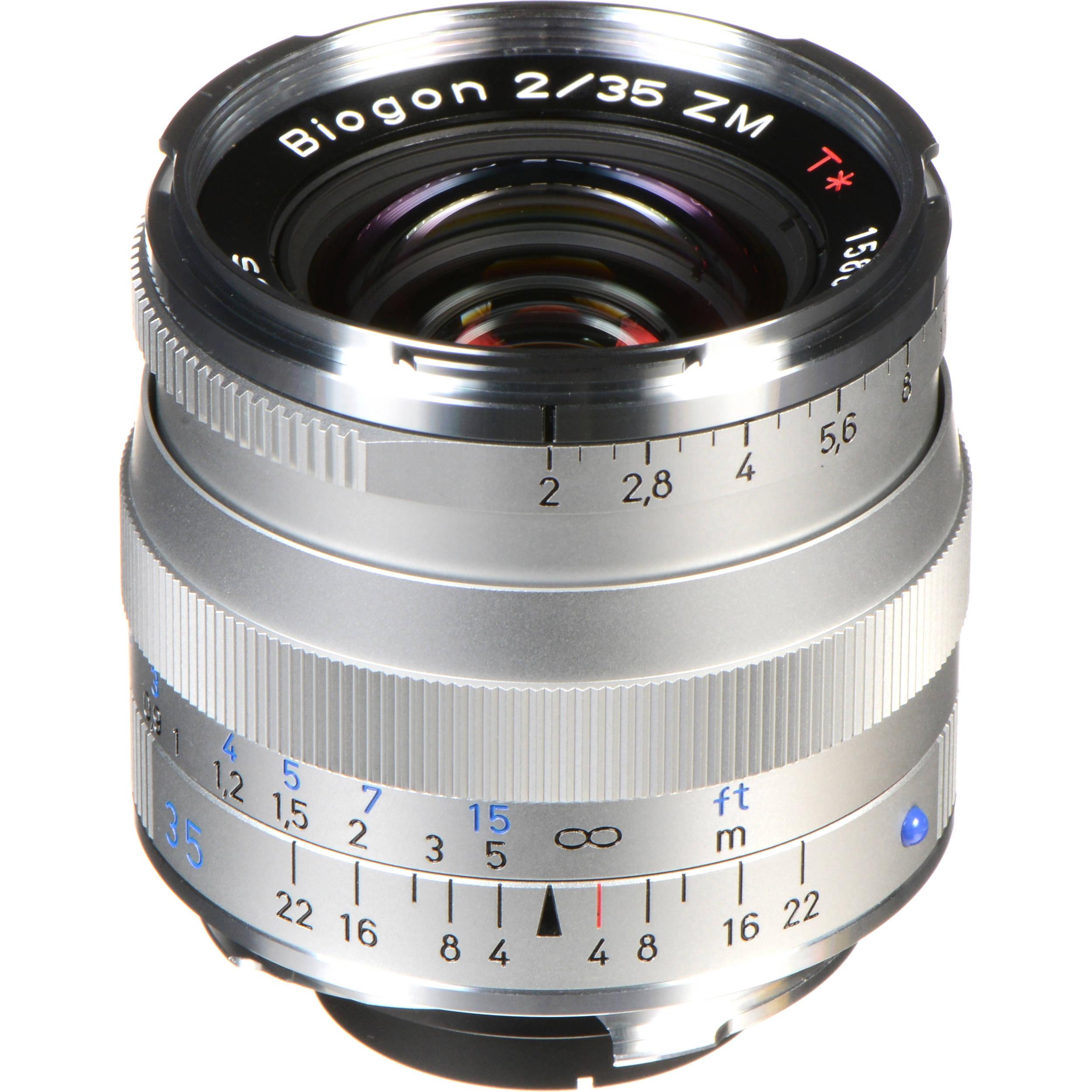 ZEISS Biogon T* 35mm f/2 ZM Lens (Black)