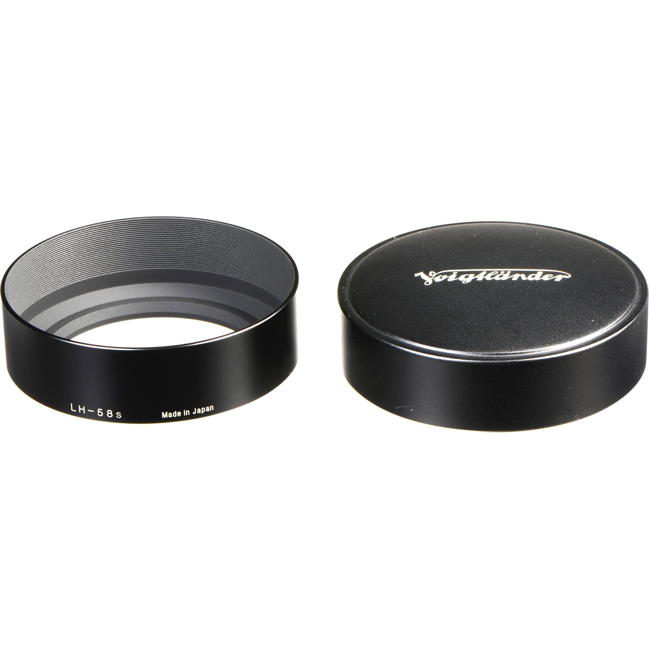Lens Hood Metal Universal 58mm black for Voigtländer Nokton 58mm F1,4 SLII