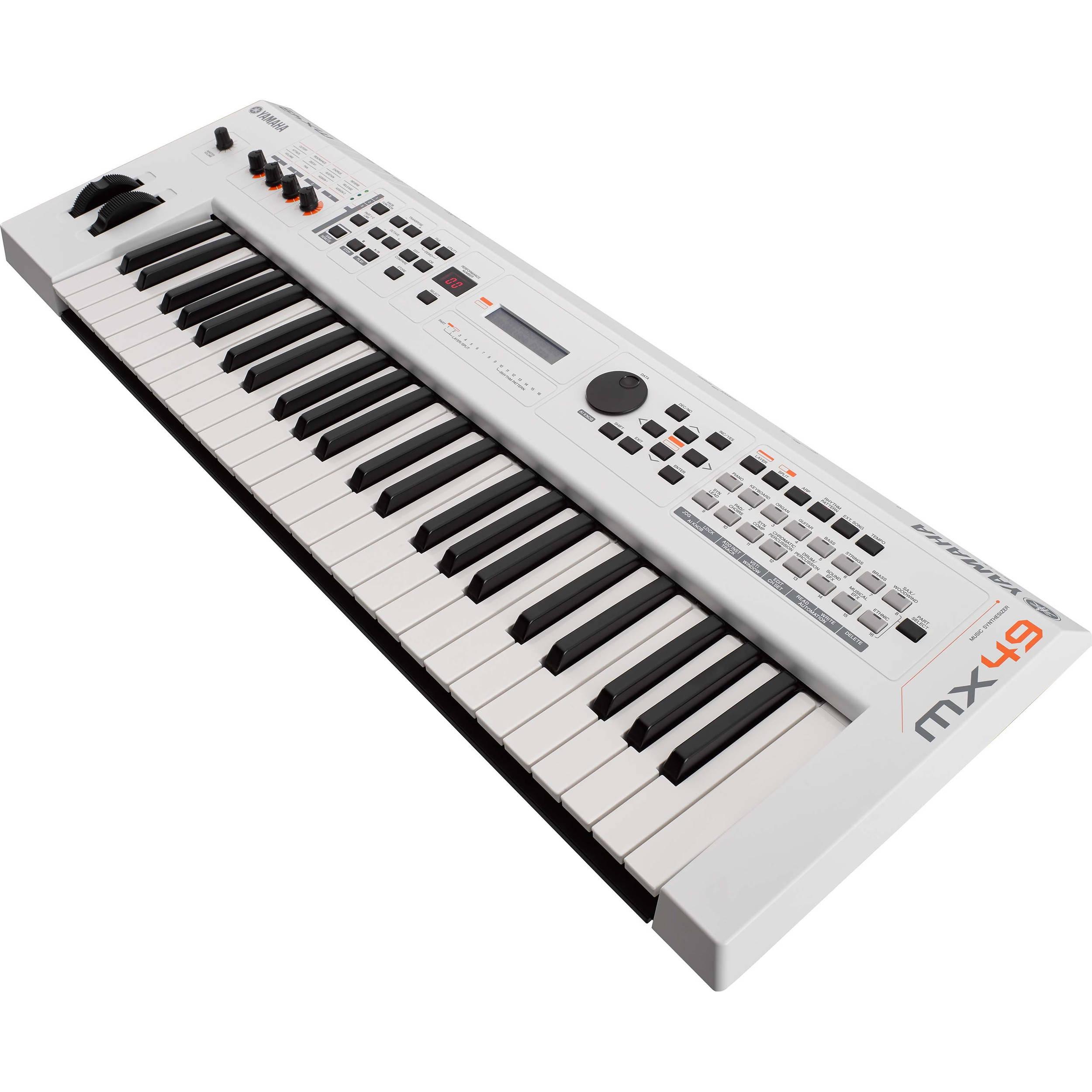 Yamaha MX49 v2 Music Production Synthesizer (Limited-Edition White)
