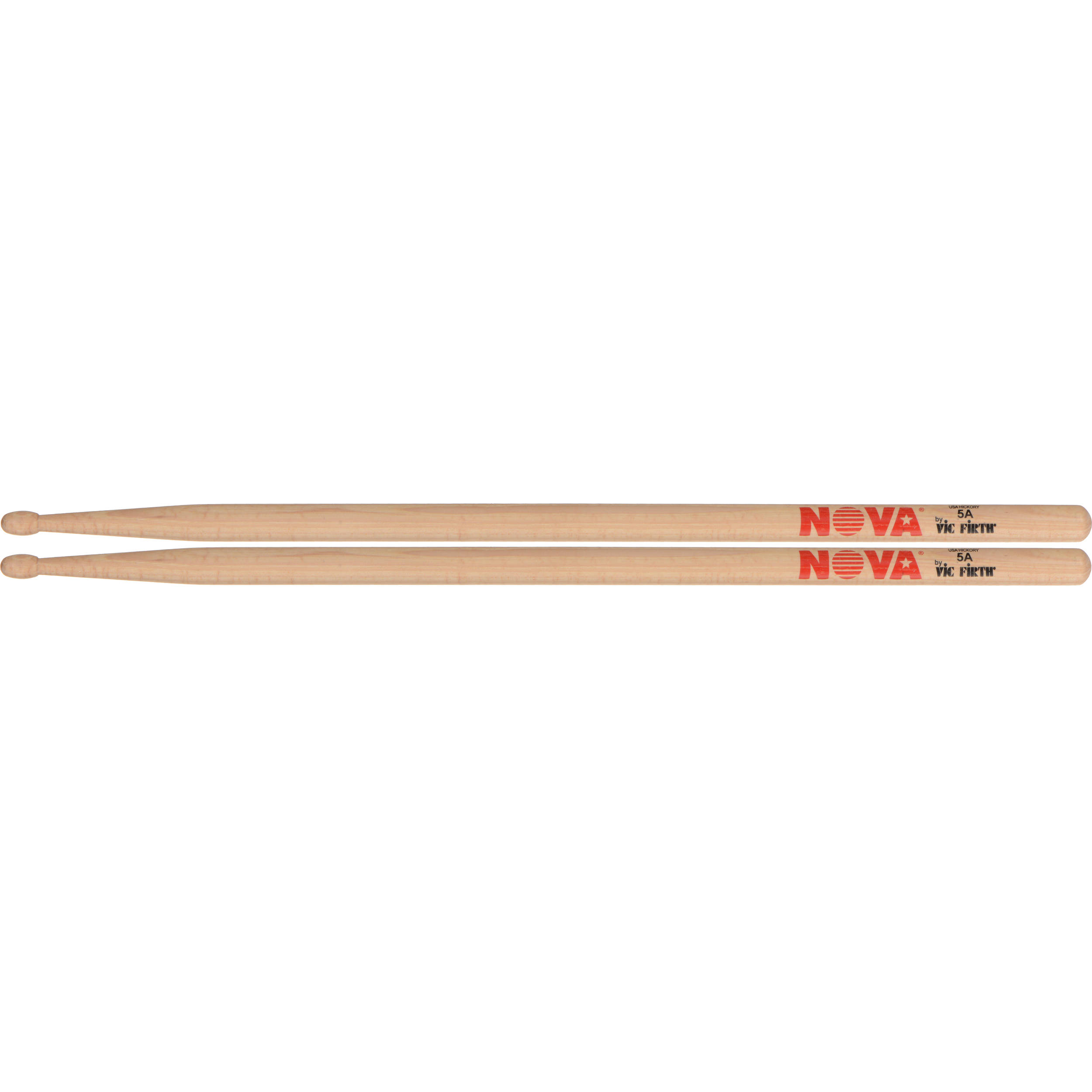 Nylon Tip, 1 Pair Vic Firth 5A Nova Drum Sticks