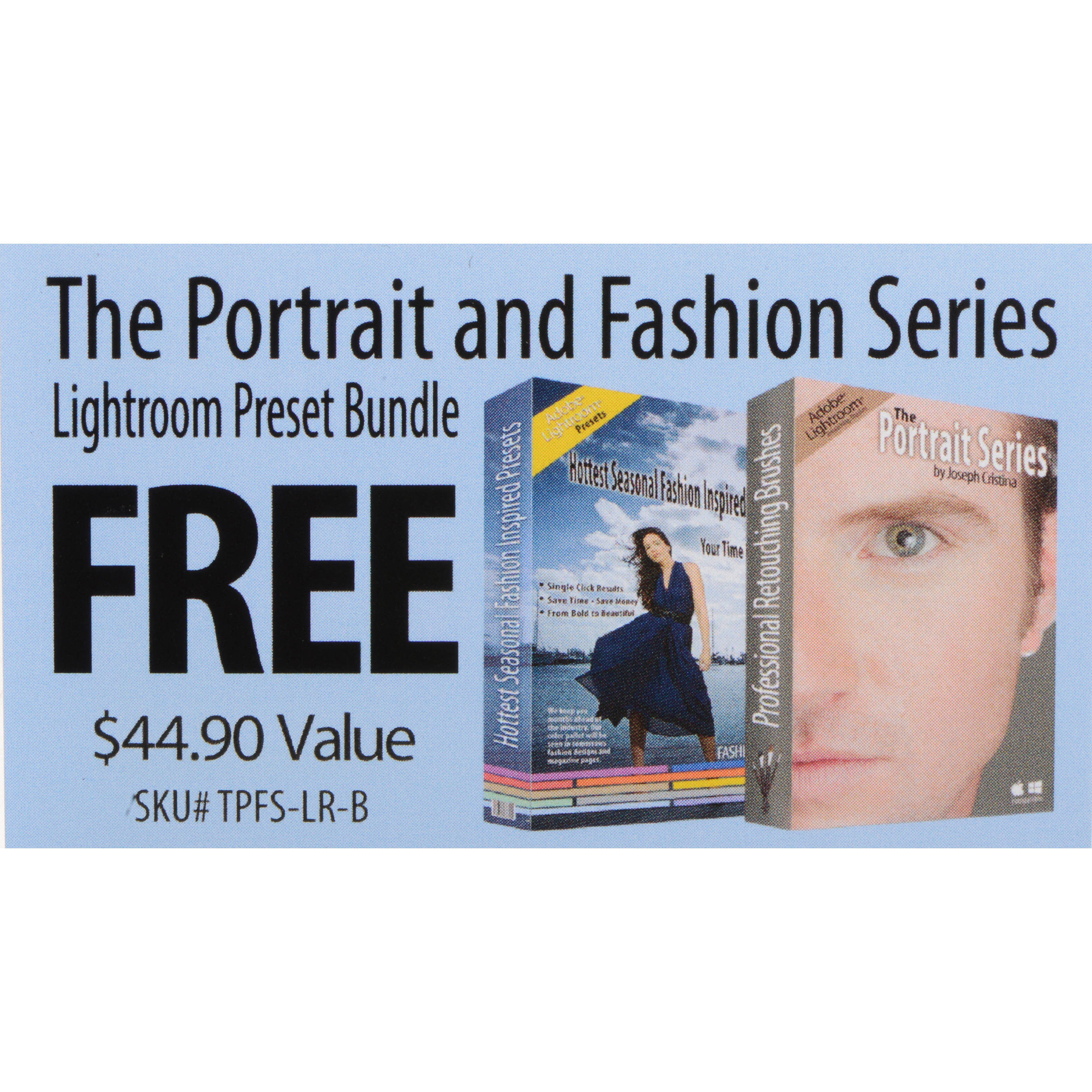 J Cristina Photography Tools Portrait and Fashion Series Lightroom Preset  Bundle (Download Card)