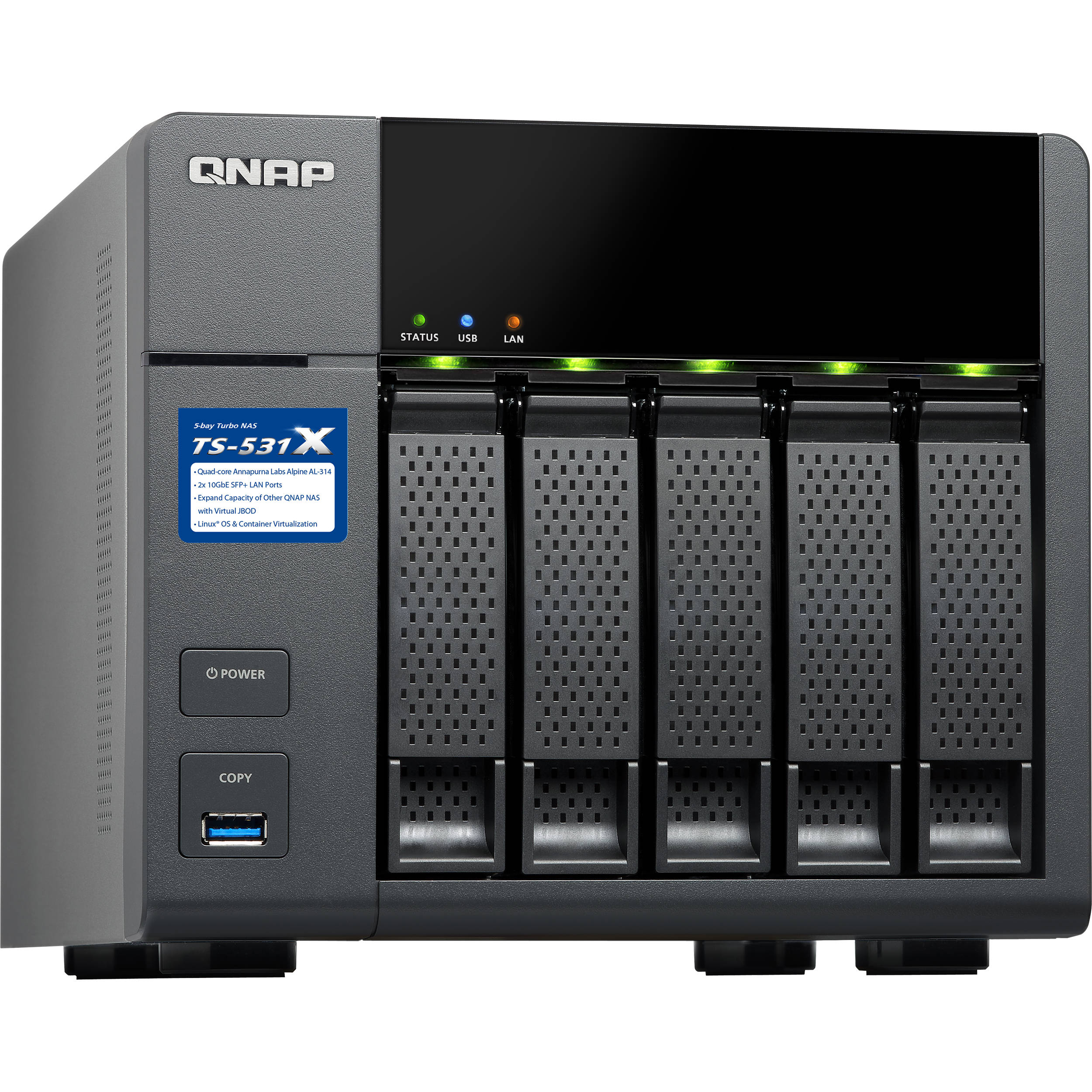 QNAP TS-531X Five-Bay NAS Enclosure