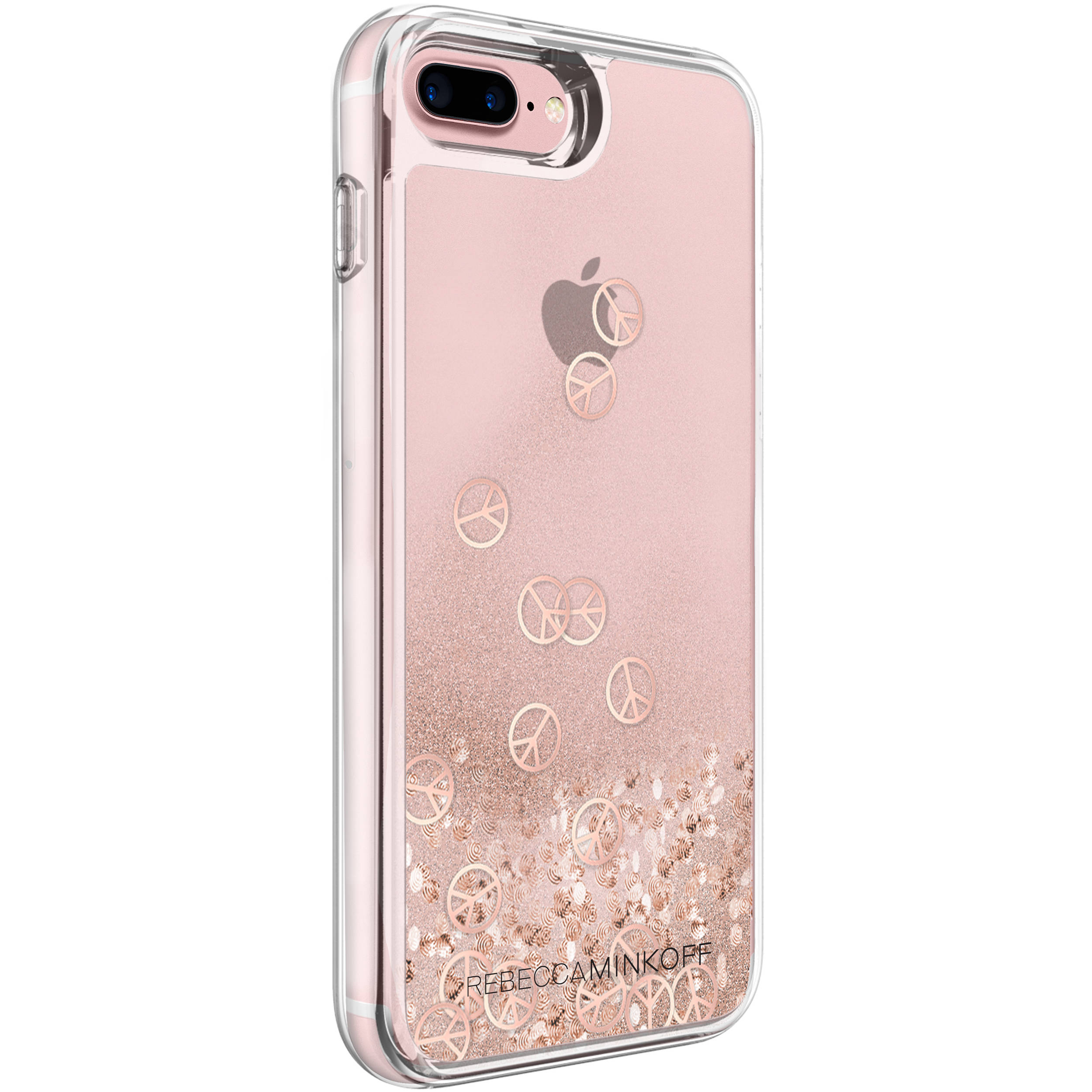 new product 576cf 65466 Incipio Rebecca Minkoff Glitterfall Case for iPhone 7 Plus (Peace Sign Rose  Gold)