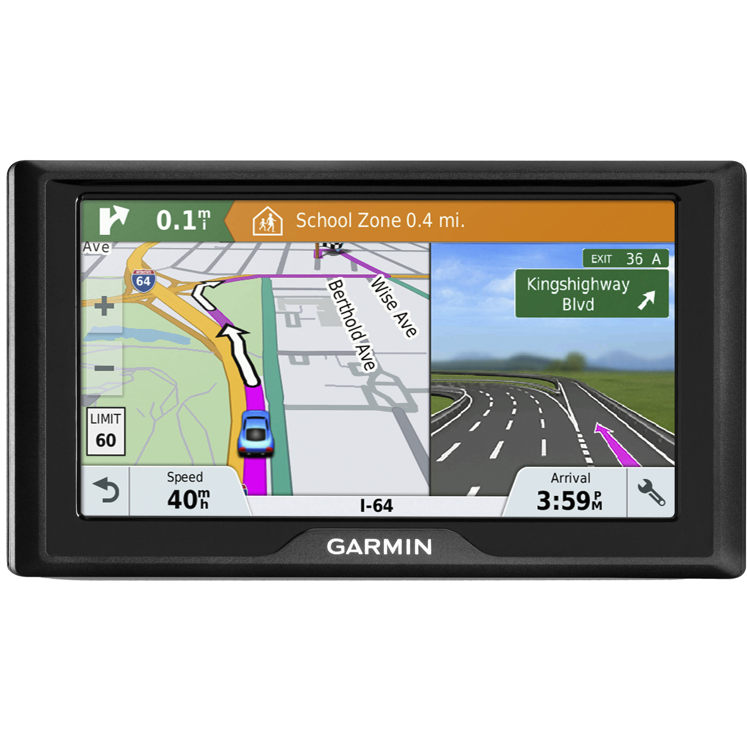 Maps Map Updates Garmin United States >> Garmin Drive 61 Lmt S Navigation System United States Maps Traffic Parking Info