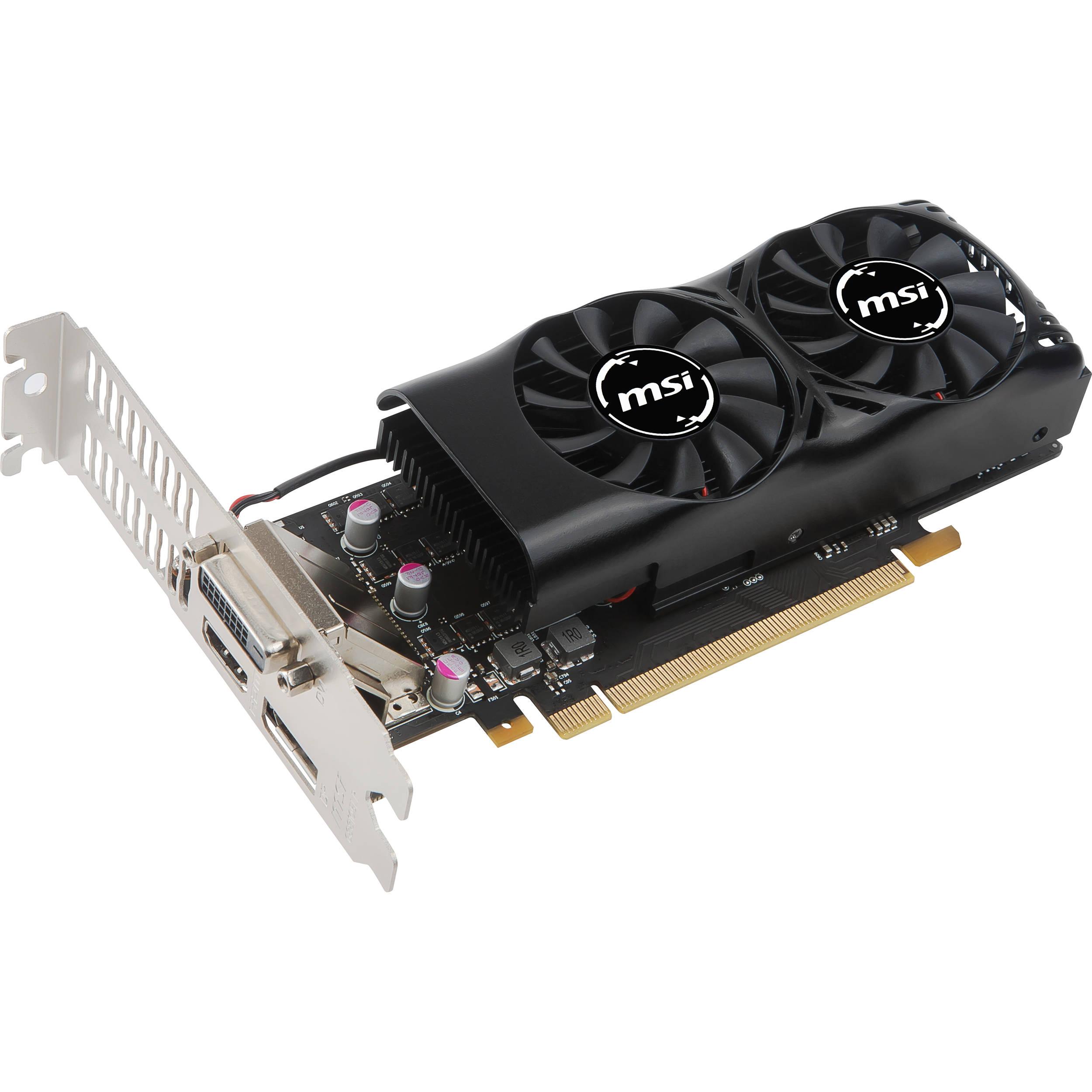 MSI GeForce GTX 1050 Ti 4GT Low Profile Graphics Card
