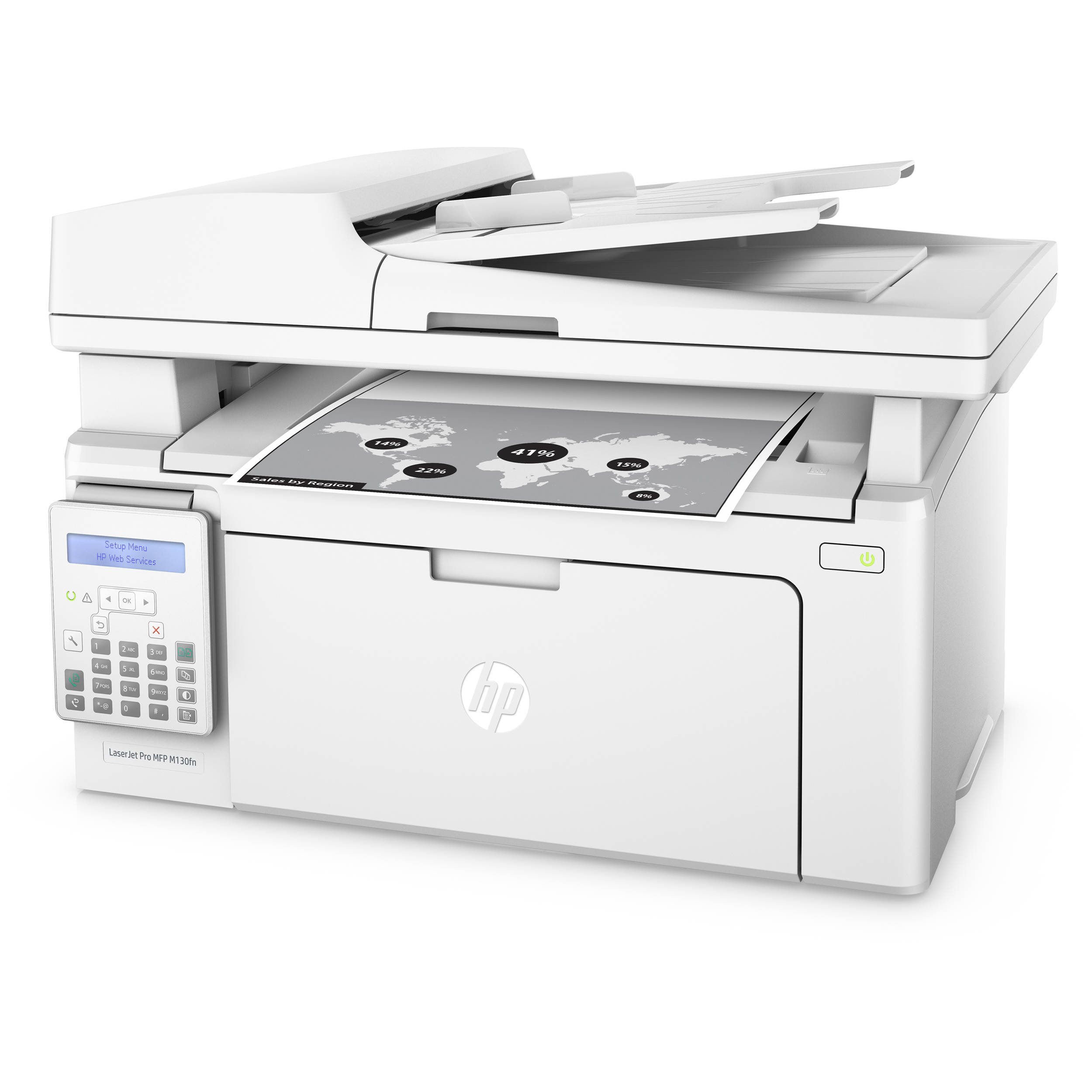 HP LaserJet Pro M130fn All-in-One Monochrome Laser Printer