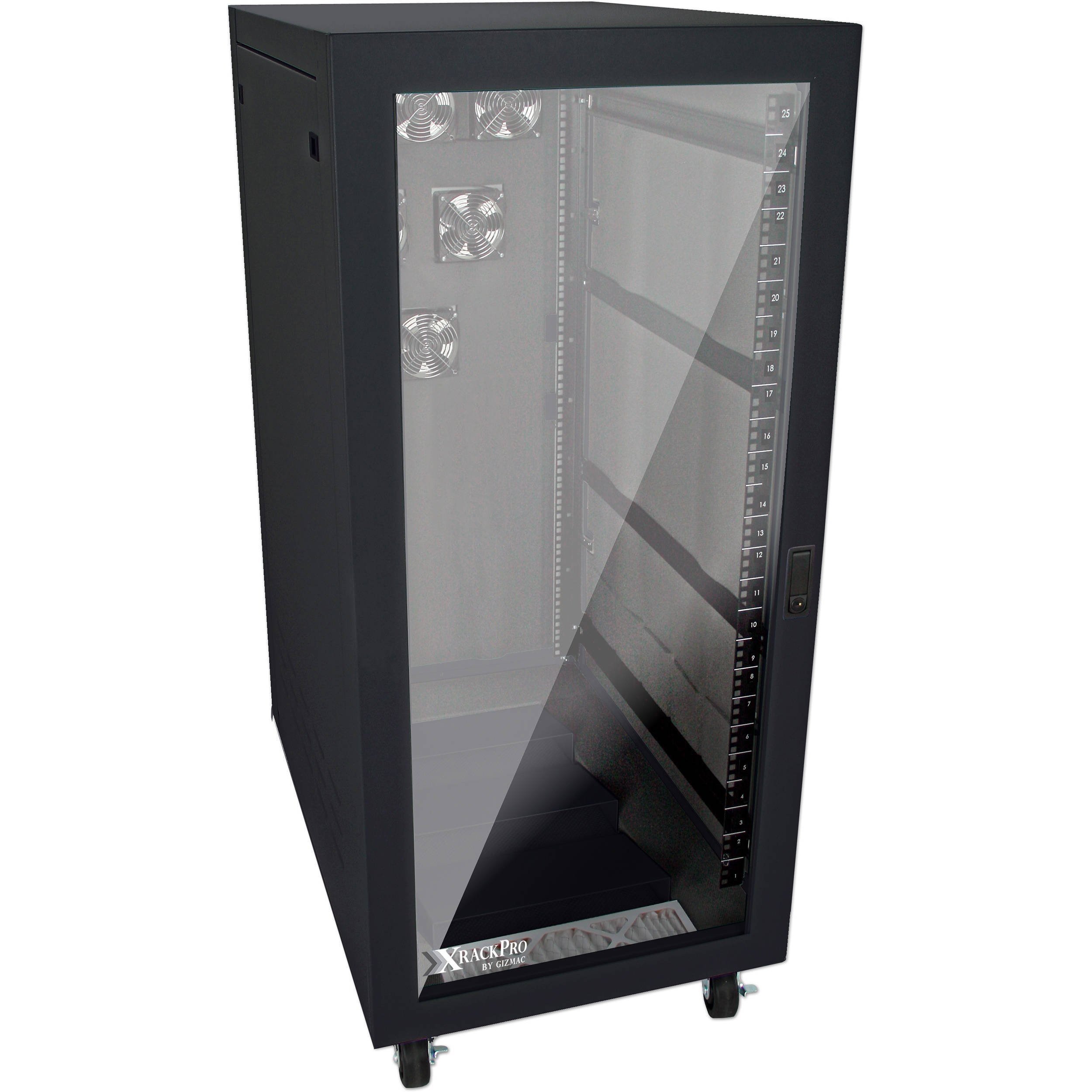 XRackPro2 Noise Reduction Server Rack Enclosure (25 RU, Black)