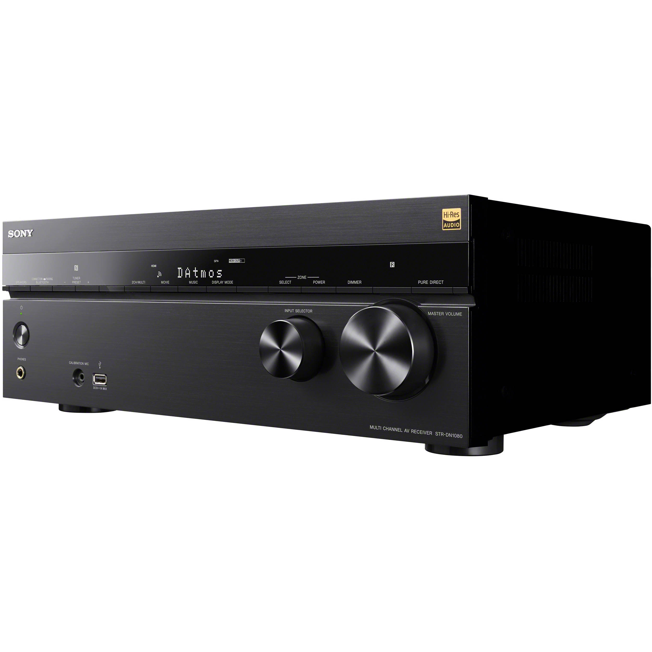 9 Items Sony STR-DN1080 7.2-Channel Home Theater AV Receiver Bundled with Active Subwoofer and Seven Sony Speakers