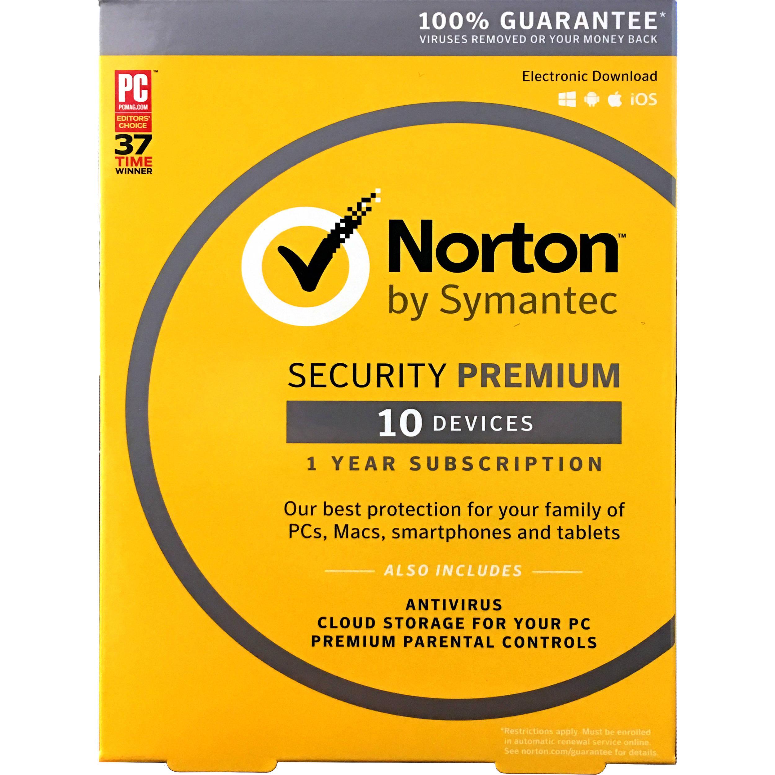 Symantec Norton Security Premium (10-Devices / 1-Year / Boxed)