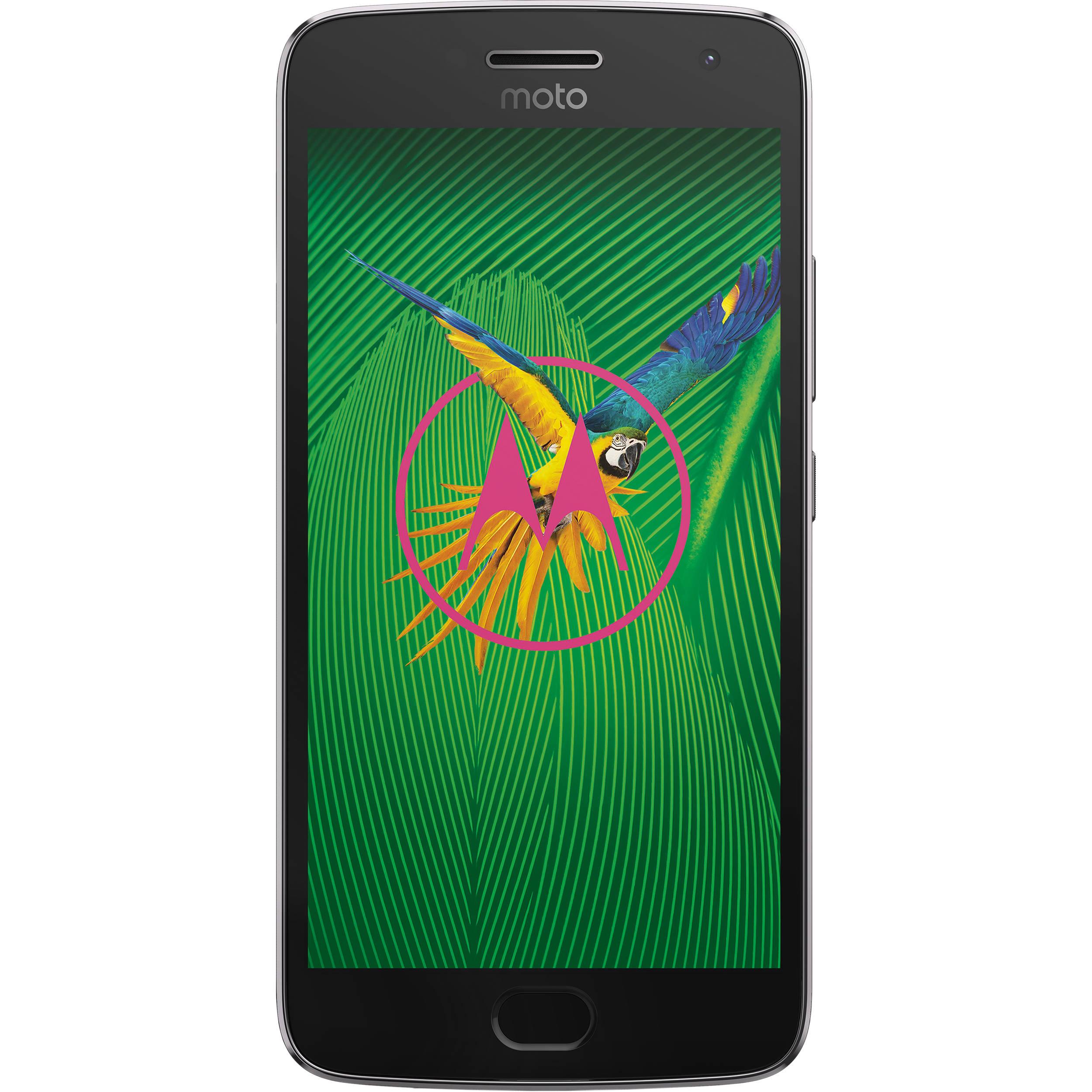san francisco b25b7 7bb53 Moto G5 Plus XT1687 32GB Smartphone (Unlocked, Lunar Gray)