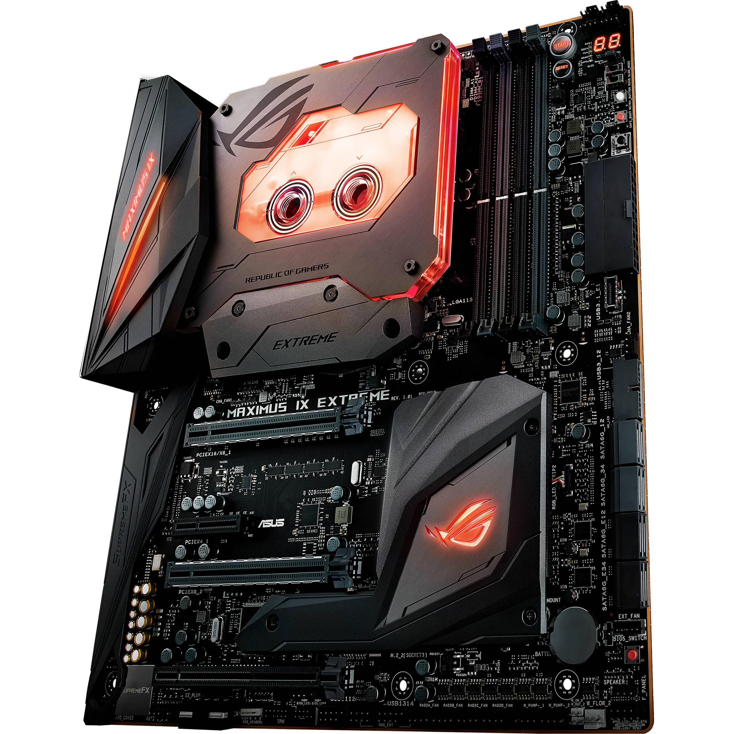 ASUS Republic of Gamers Maximus IX Extreme Z270 LGA 1151 E-ATX Motherboard