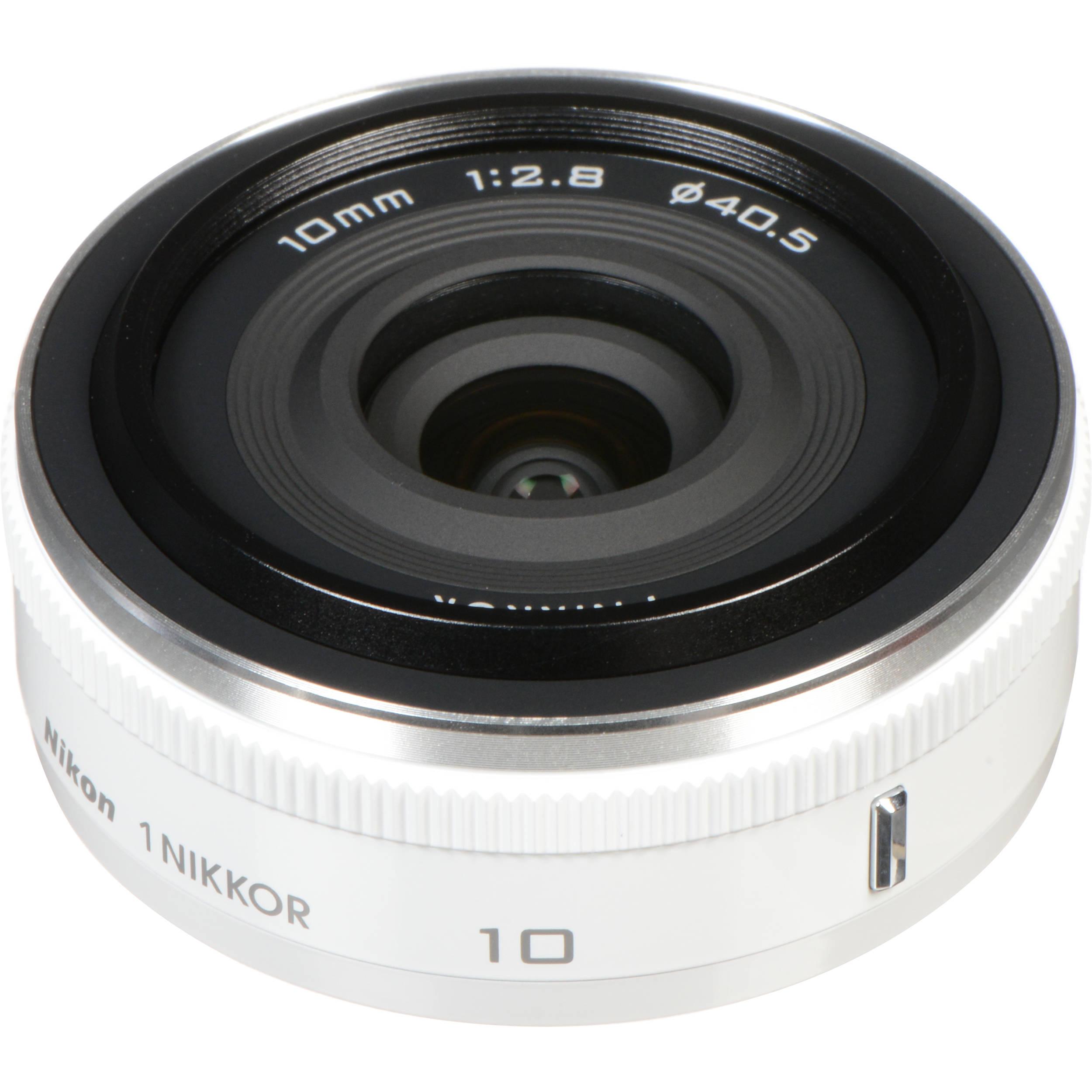 f41ccd9d06c Used Nikon 1 NIKKOR 10mm f/2.8 Lens (White) 3320B B&H Photo Video