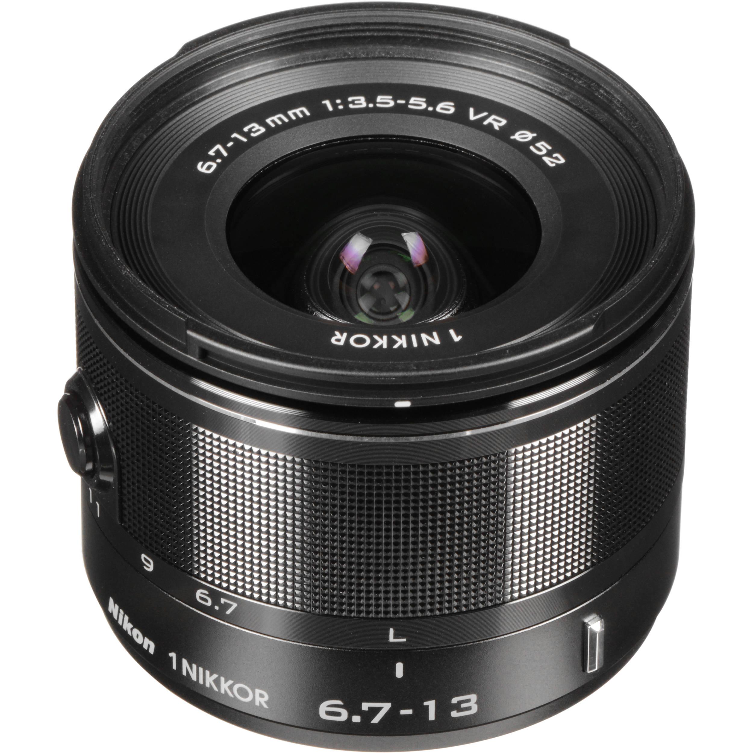 Nikon 1 NIKKOR 6 7-13mm f/3 5-5 6 VR Lens (Black)