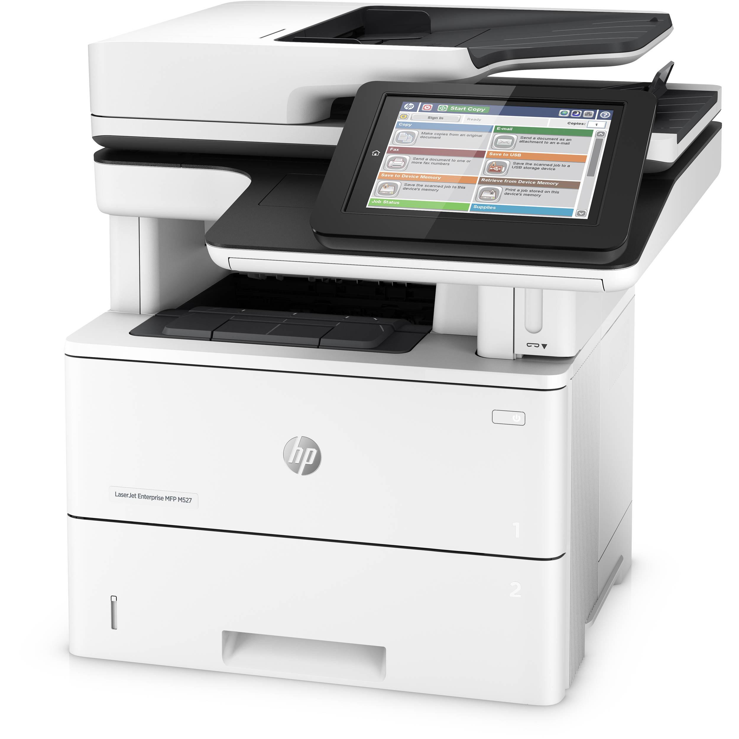HP LaserJet Enterprise Flow M527c All-in-One Monochrome Laser Printer