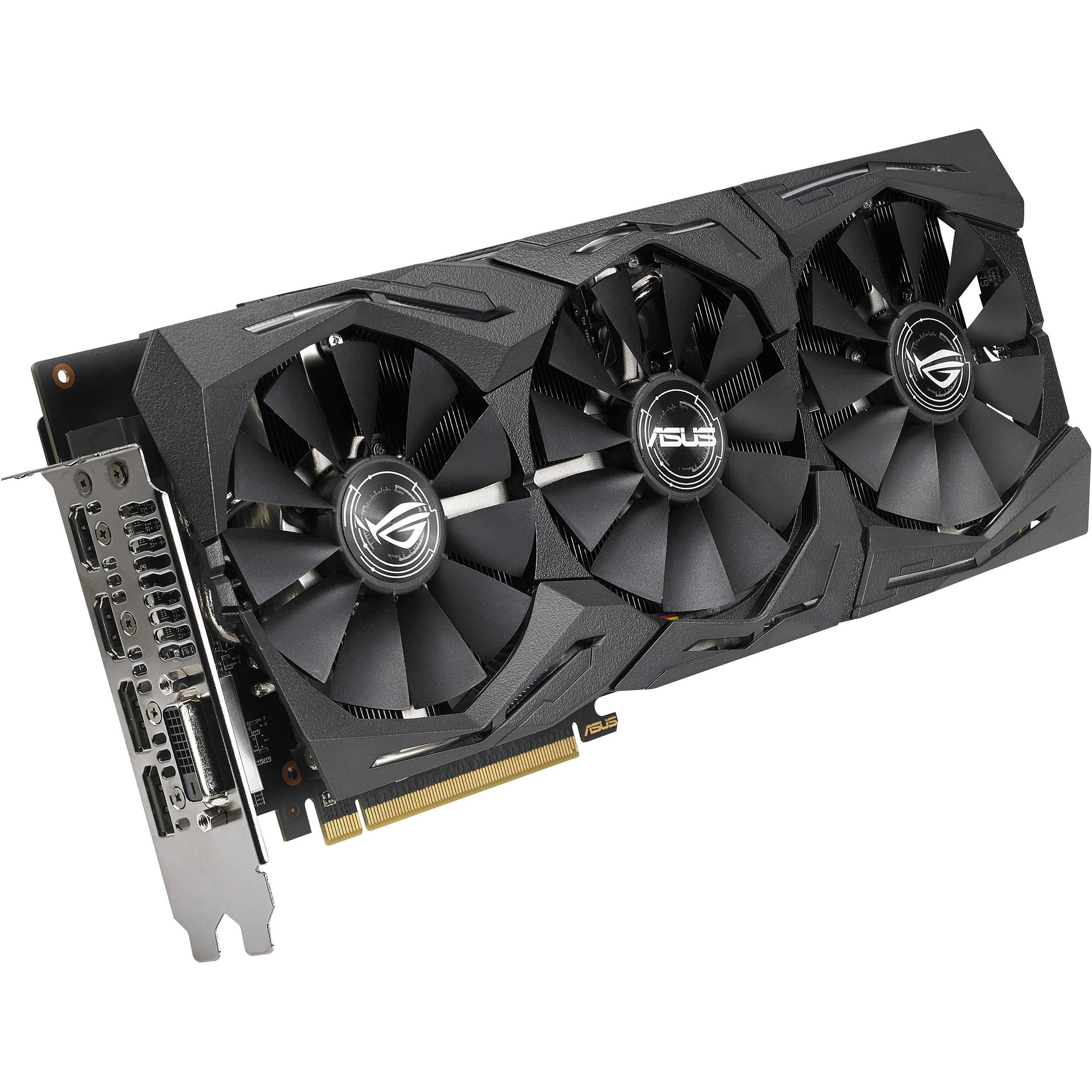 ASUS ROG Strix Radeon RX 580 O8G Gaming OC Edition 8GB GDDR5 AMD Graphics Card