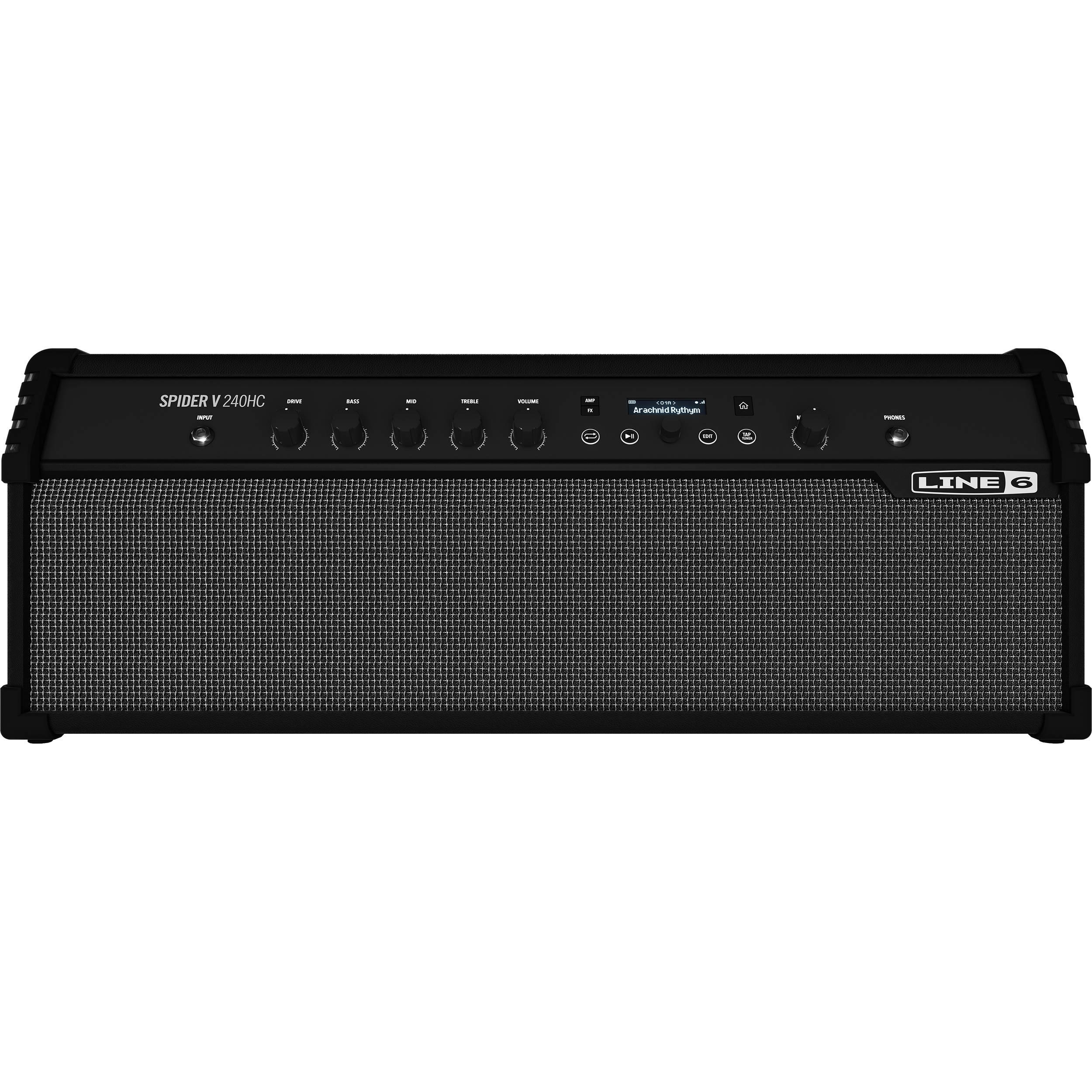Line 6 Spider V 240HC Modeling Stereo Amplifier for Electric Guitars