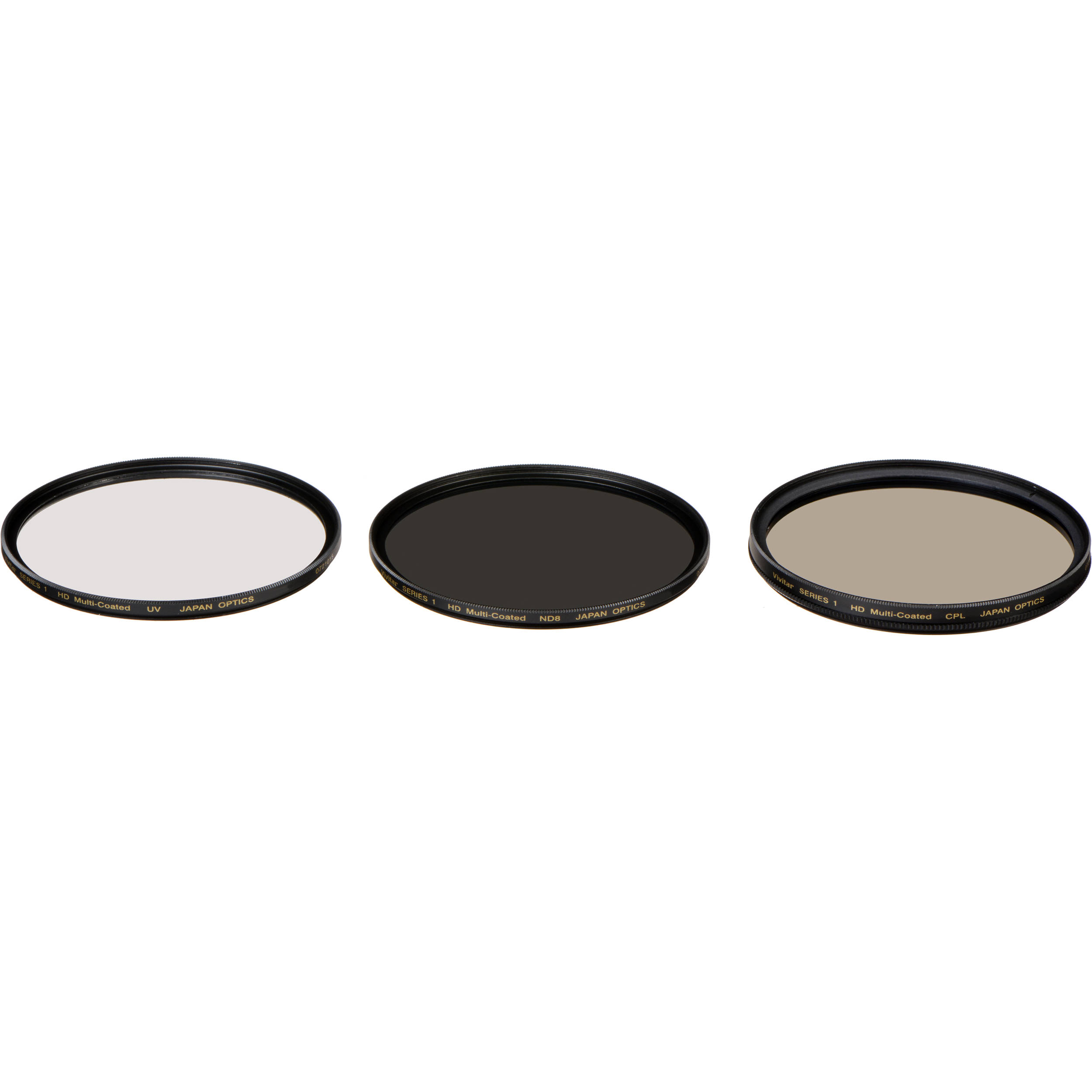 HD Multi-Coated 72mm 3 Piece Filter Set Pouch UV, CPL, FLD