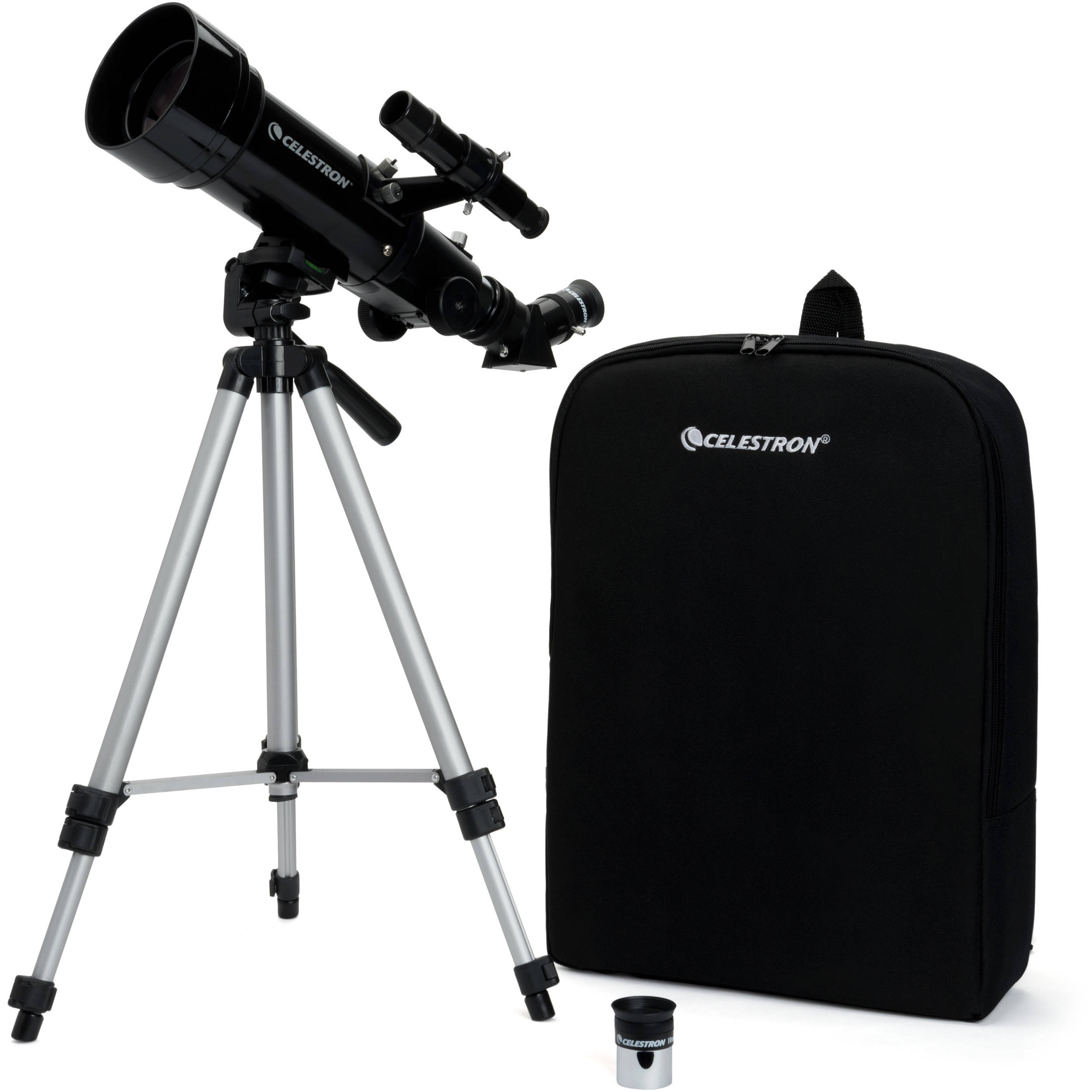 Black Celestron 21038 Travel Scope 50 Telescope