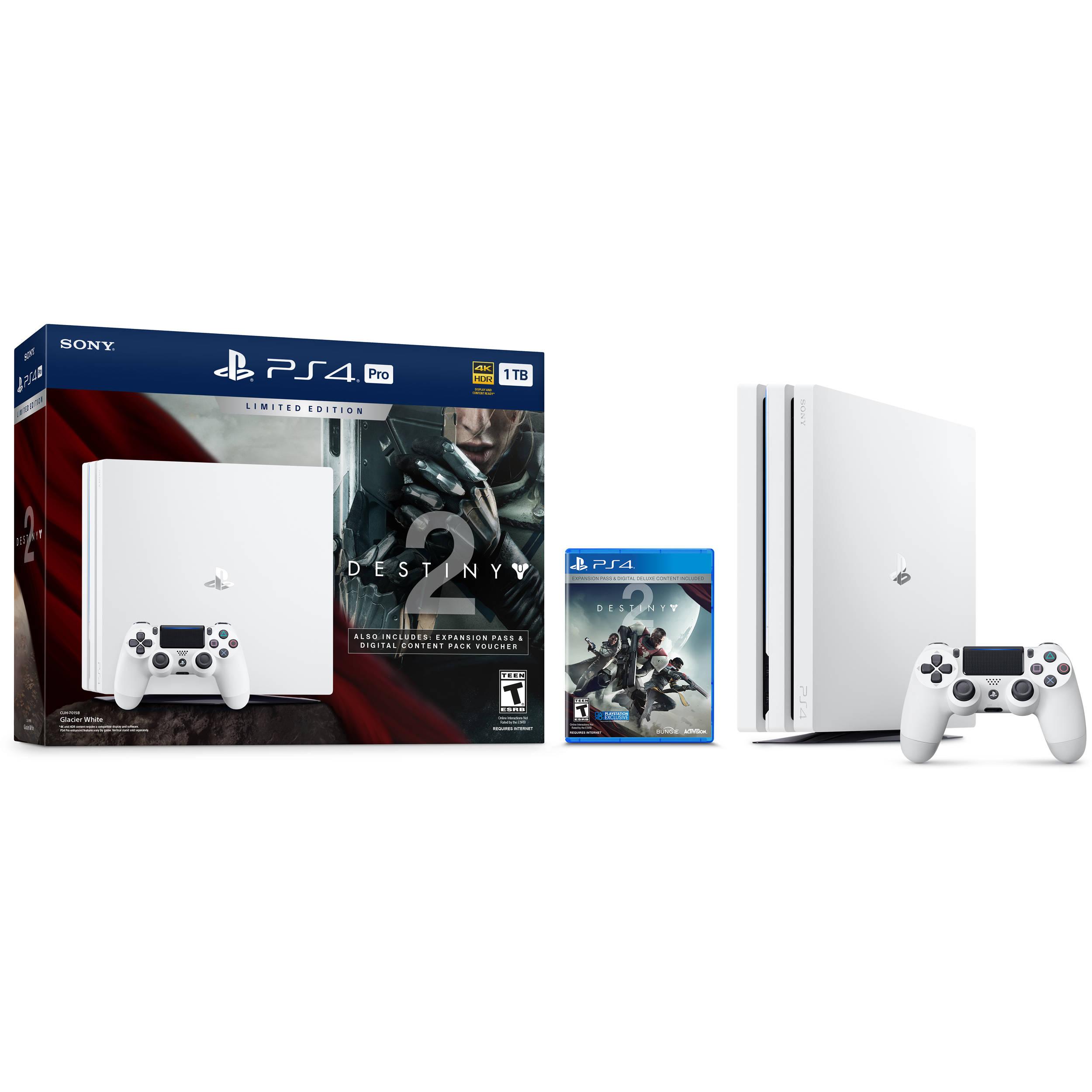 Sony Limited Edition Destiny 2 PlayStation 4 Pro Bundle (Glacier White)