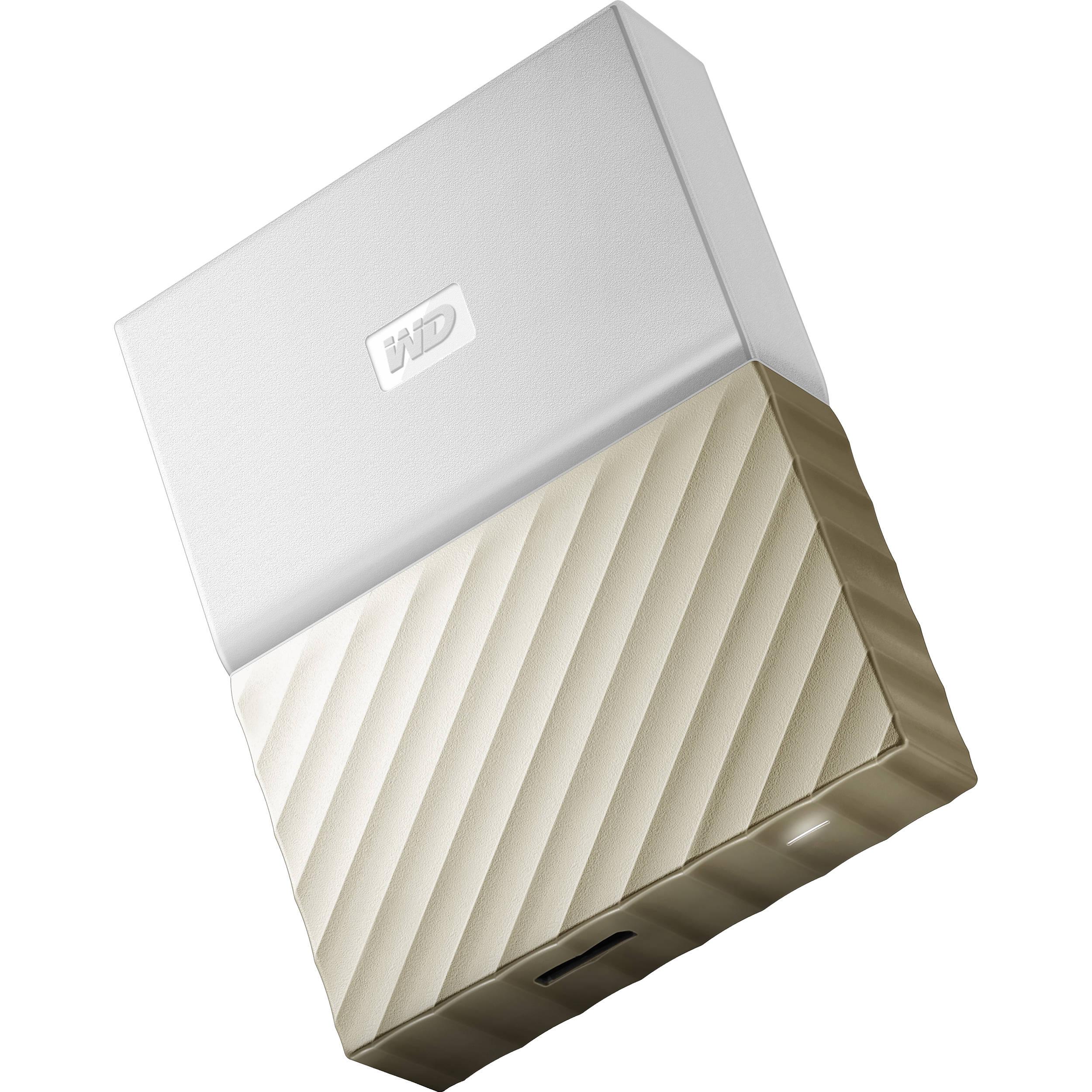 WD 3TB My Passport Ultra USB 3 0 External Hard Drive (White/Gold)