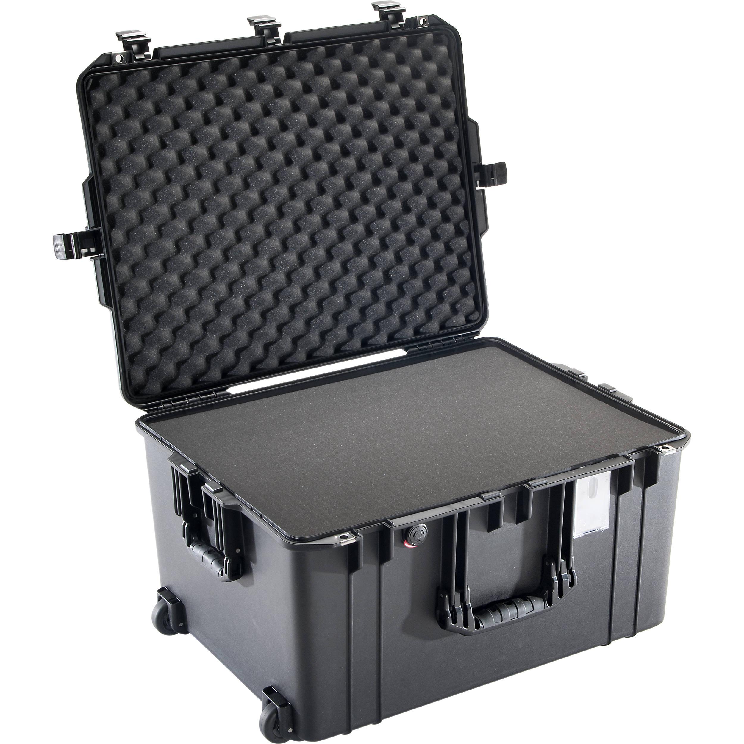Comes with wheels. Black /& Orange Pelican 1637 NO Foam Air case