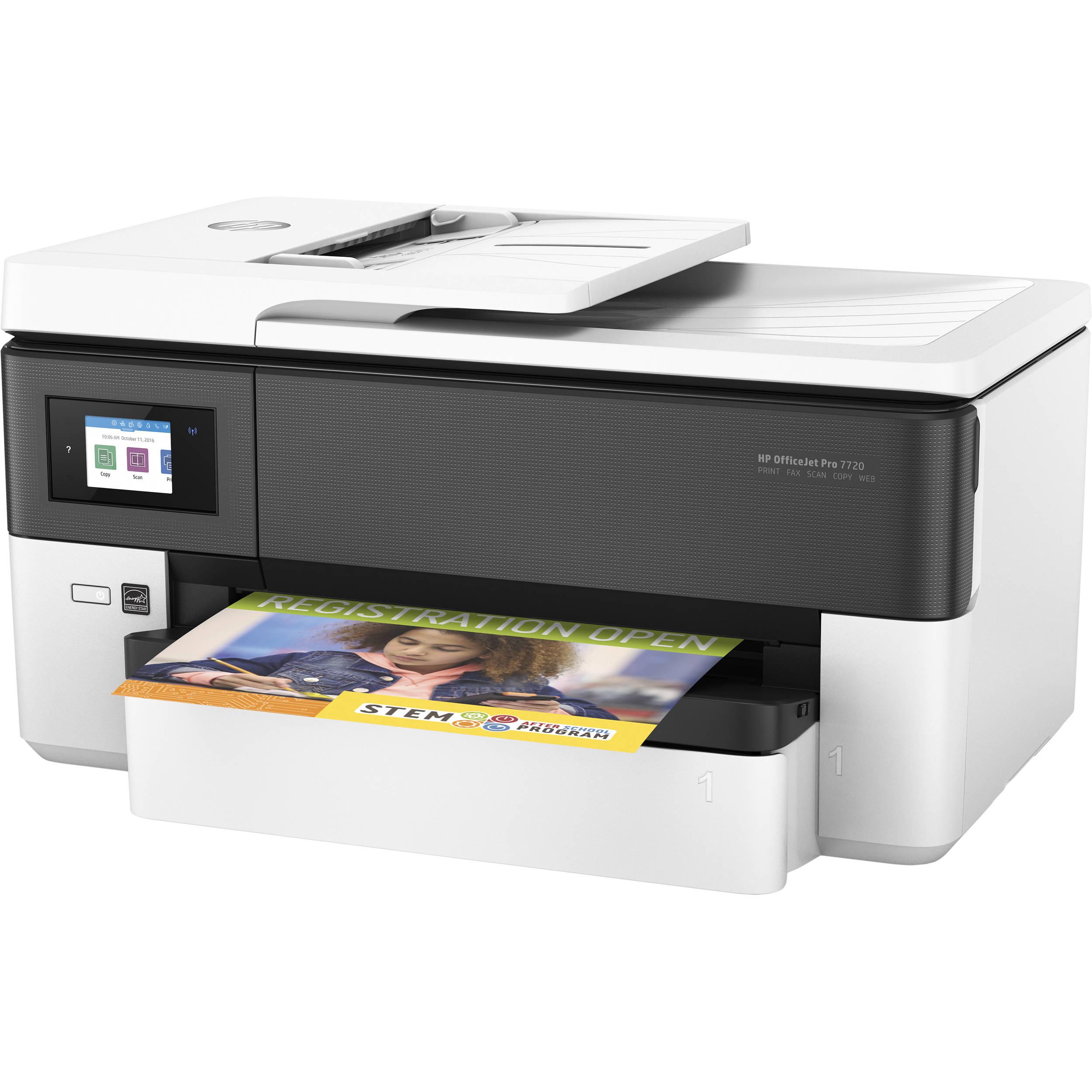 HP OfficeJet Pro 7720 Wide Format All-In-One Inkjet Printer