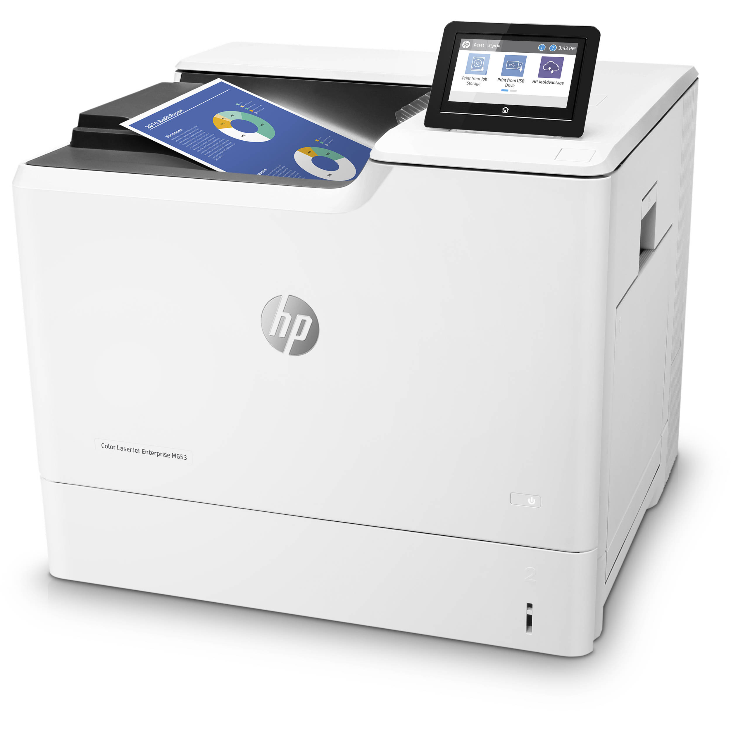 HP Color LaserJet Enterprise M653dn Laser Printer