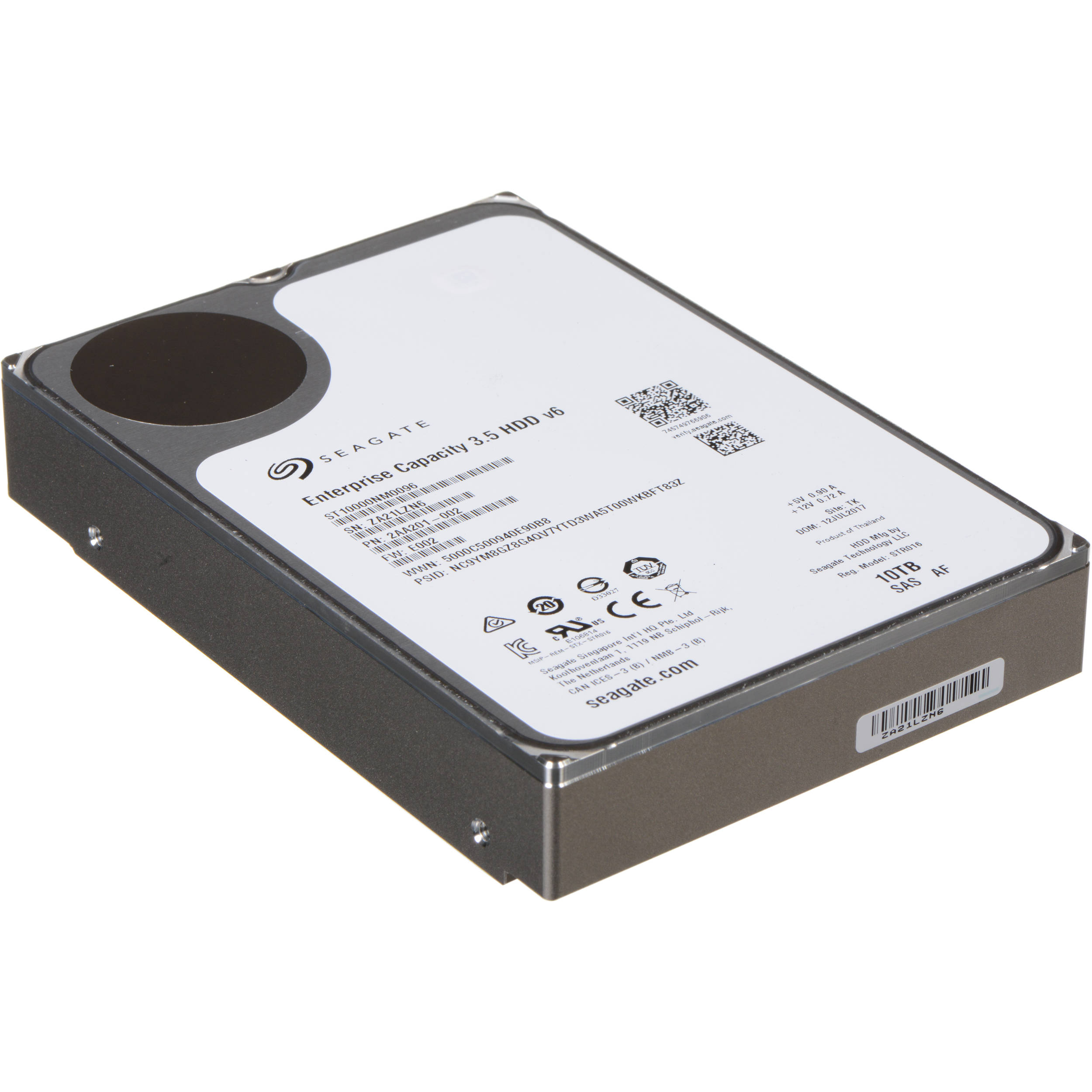 Seagate 10tb Enterprise Capacity 7200 Rpm Sas Iii St10000nm0096