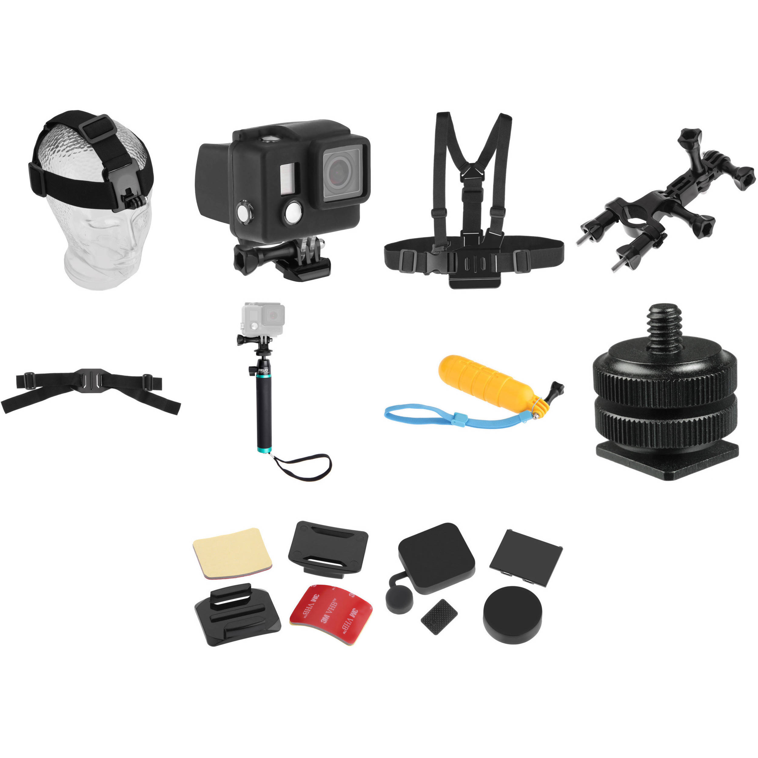 Revo Maximum Boost 10-Piece Accessory Kit for GoPro