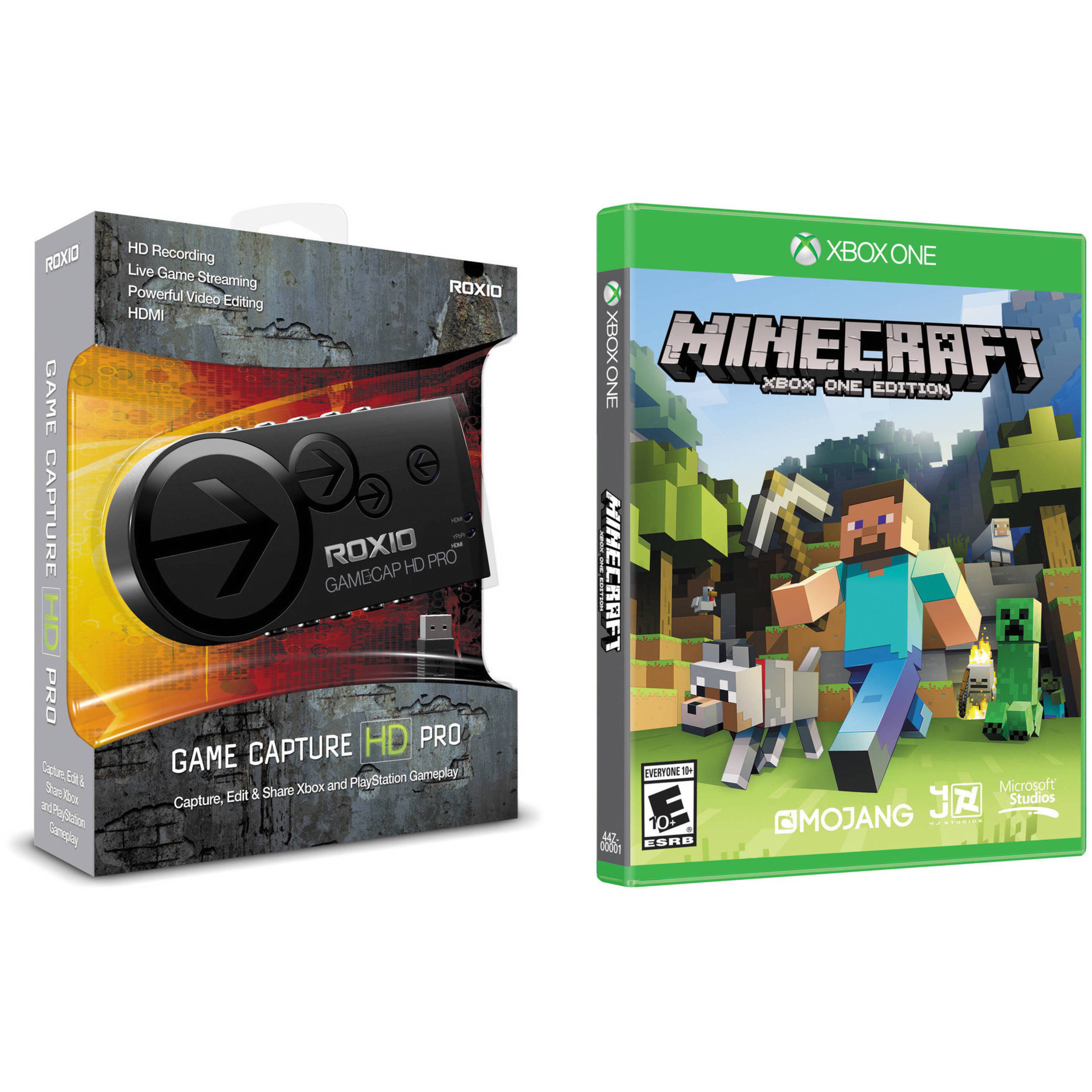 Roxio Game Capture HD Pro Kit with Microsoft Minecraft Xbox One Edition