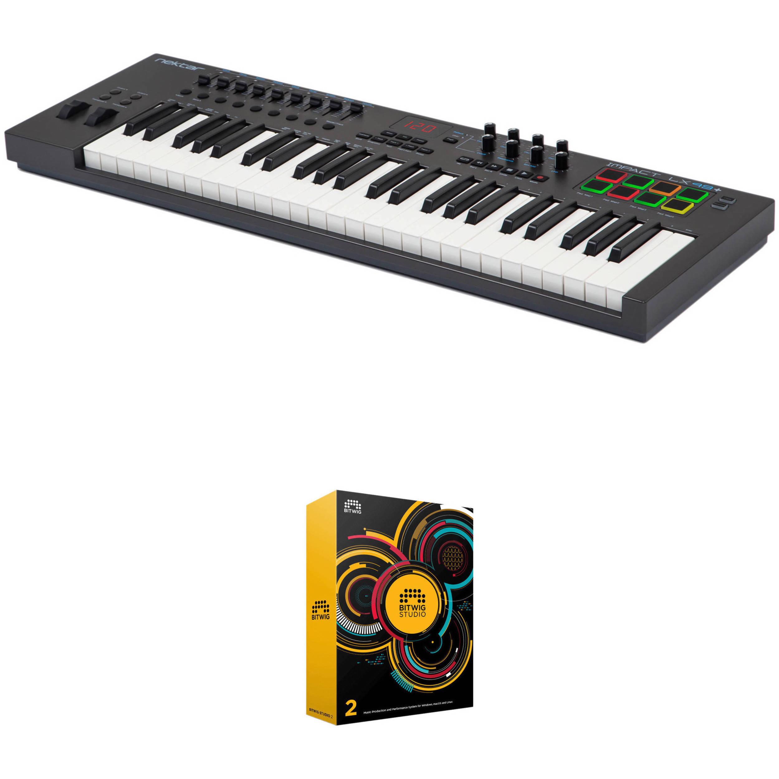 Nektar Technology Impact 49-Key Keyboard Controller and Bitwig DAW Kit