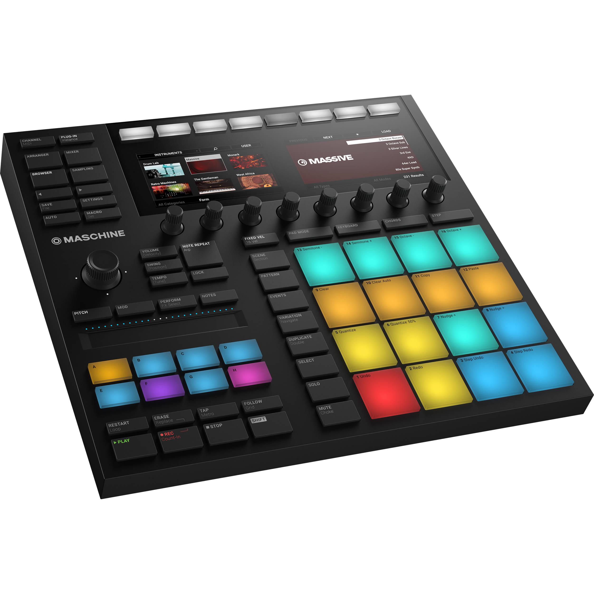 Native Instruments MASCHINE MK3 - Groove Production Studio (Black)
