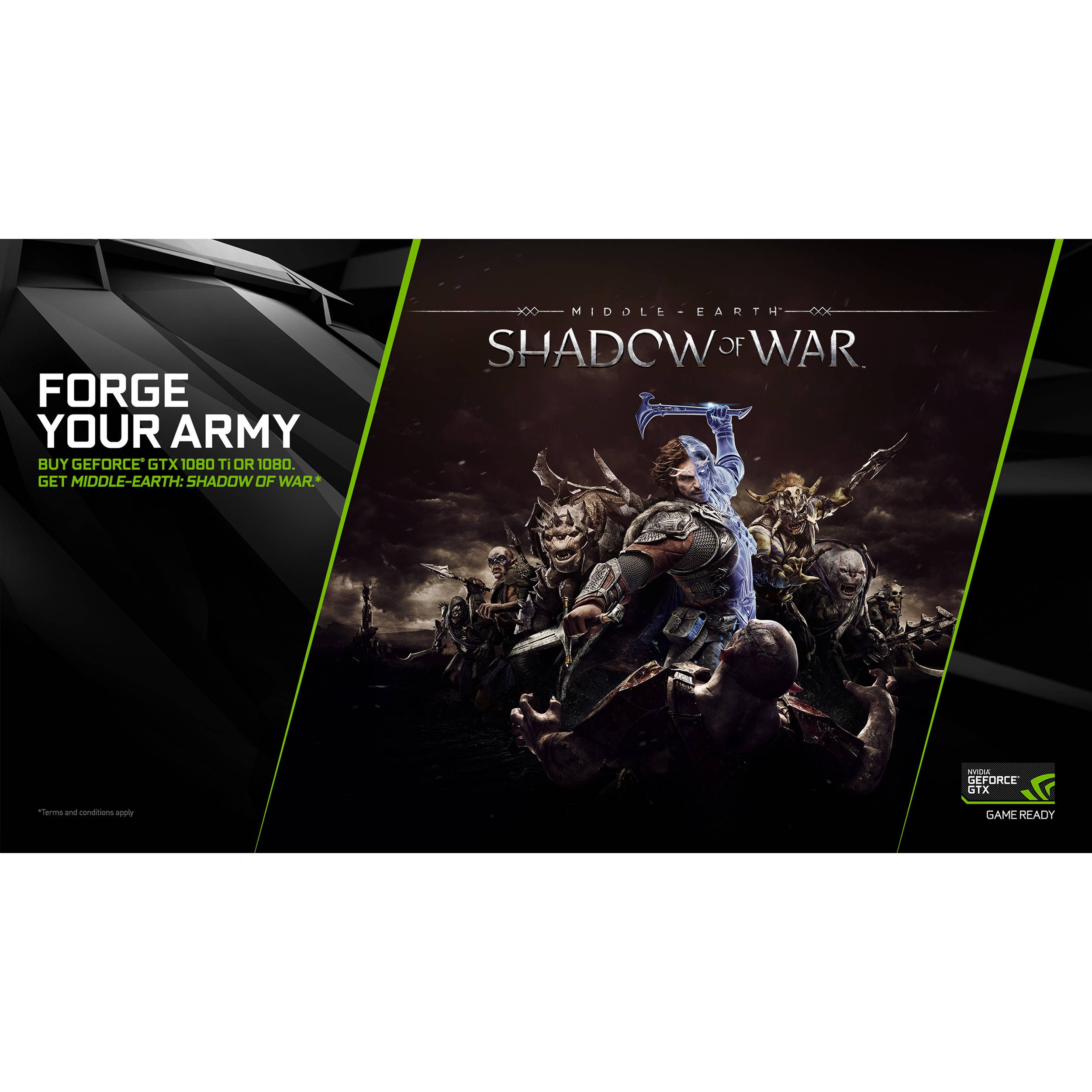 NVIDIA Middle-Earth: Shadow of War with GeForce GTX 1080 Ti or 1080 (PC  Download)