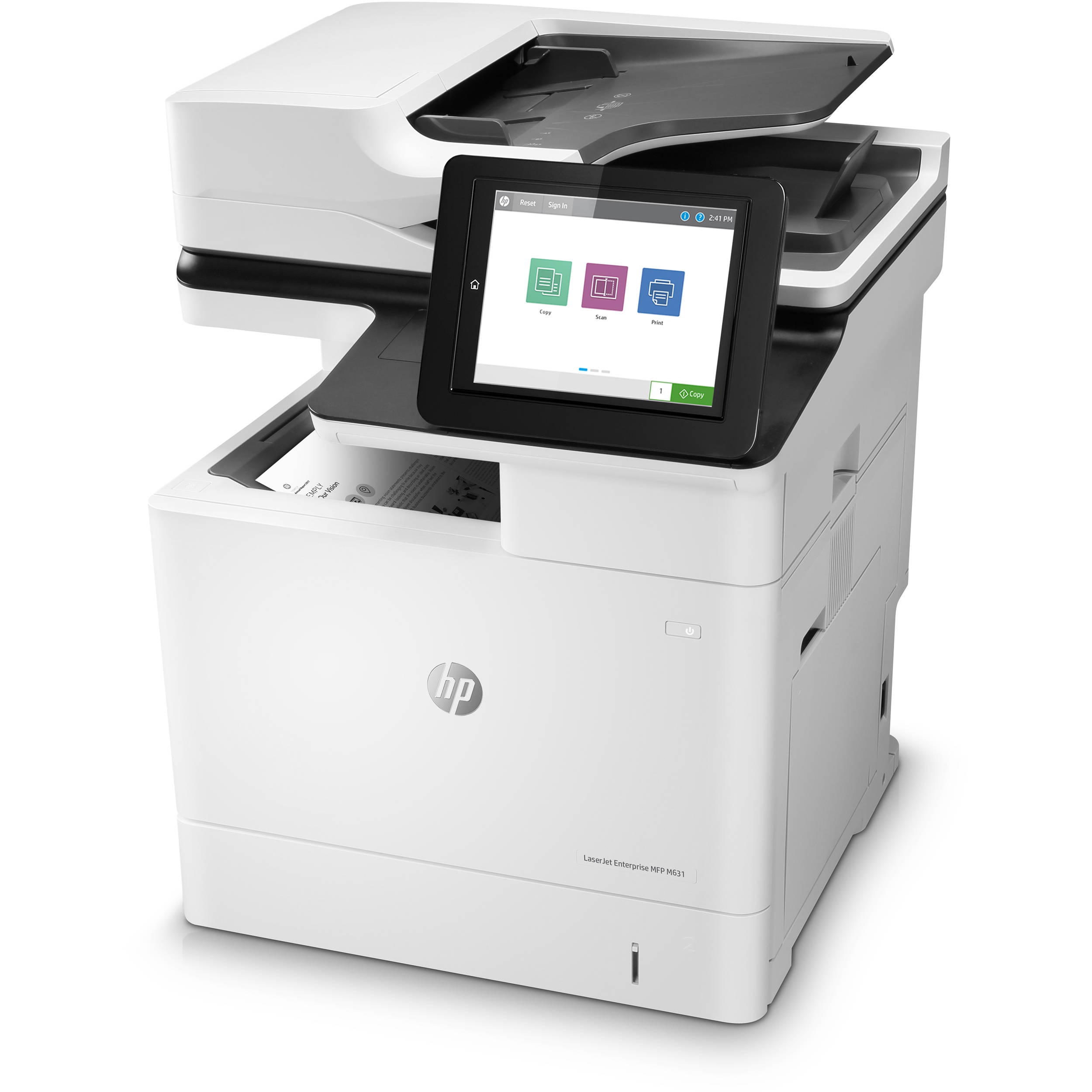 HP LaserJet Enterprise M631dn Monochrome All-In-One Laser Printer