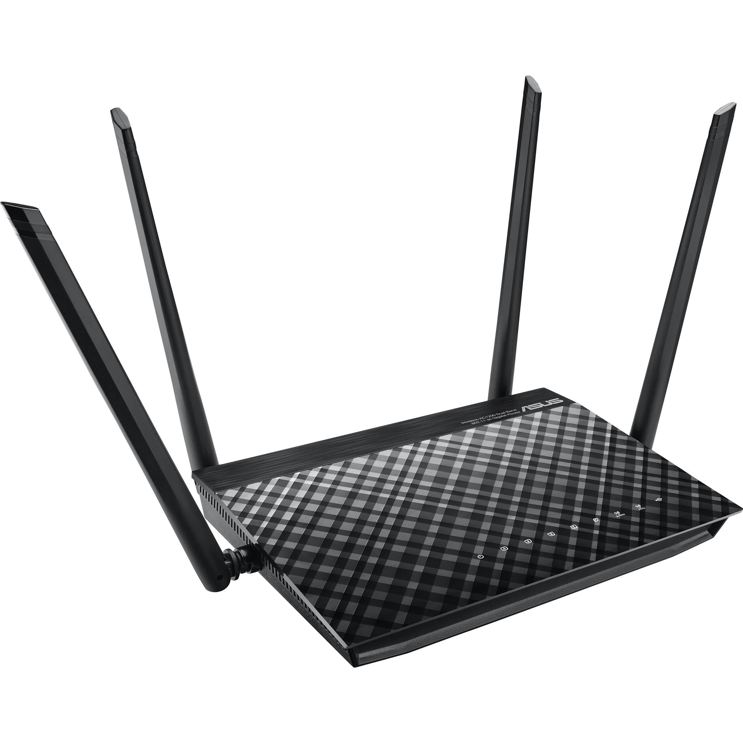 Asus Rt Ac1200g Ac1200 Wireless Dual Band Gigabit Rt Ac1200g B H