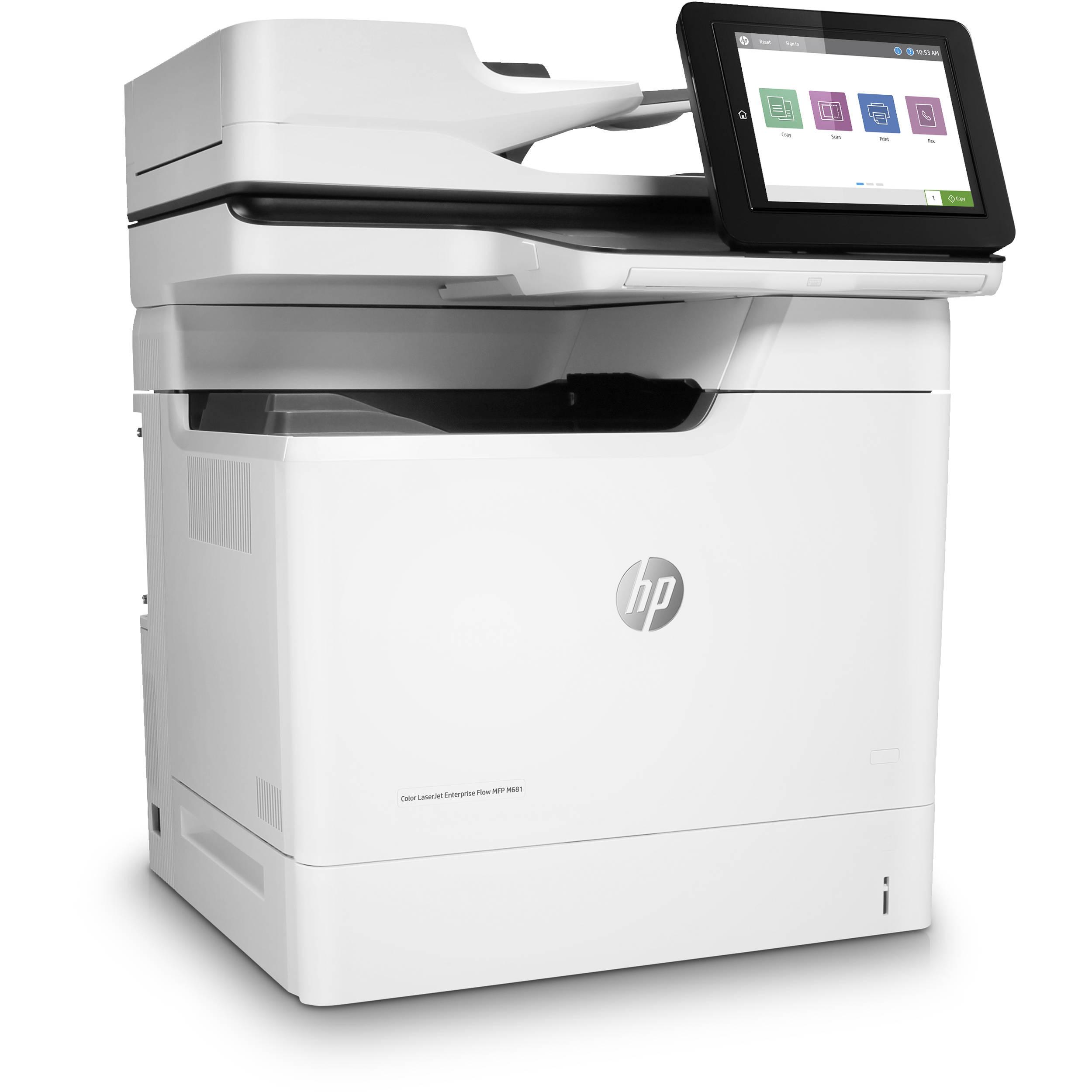 HP Color LaserJet Enterprise M681f All-In-One Laser Printer