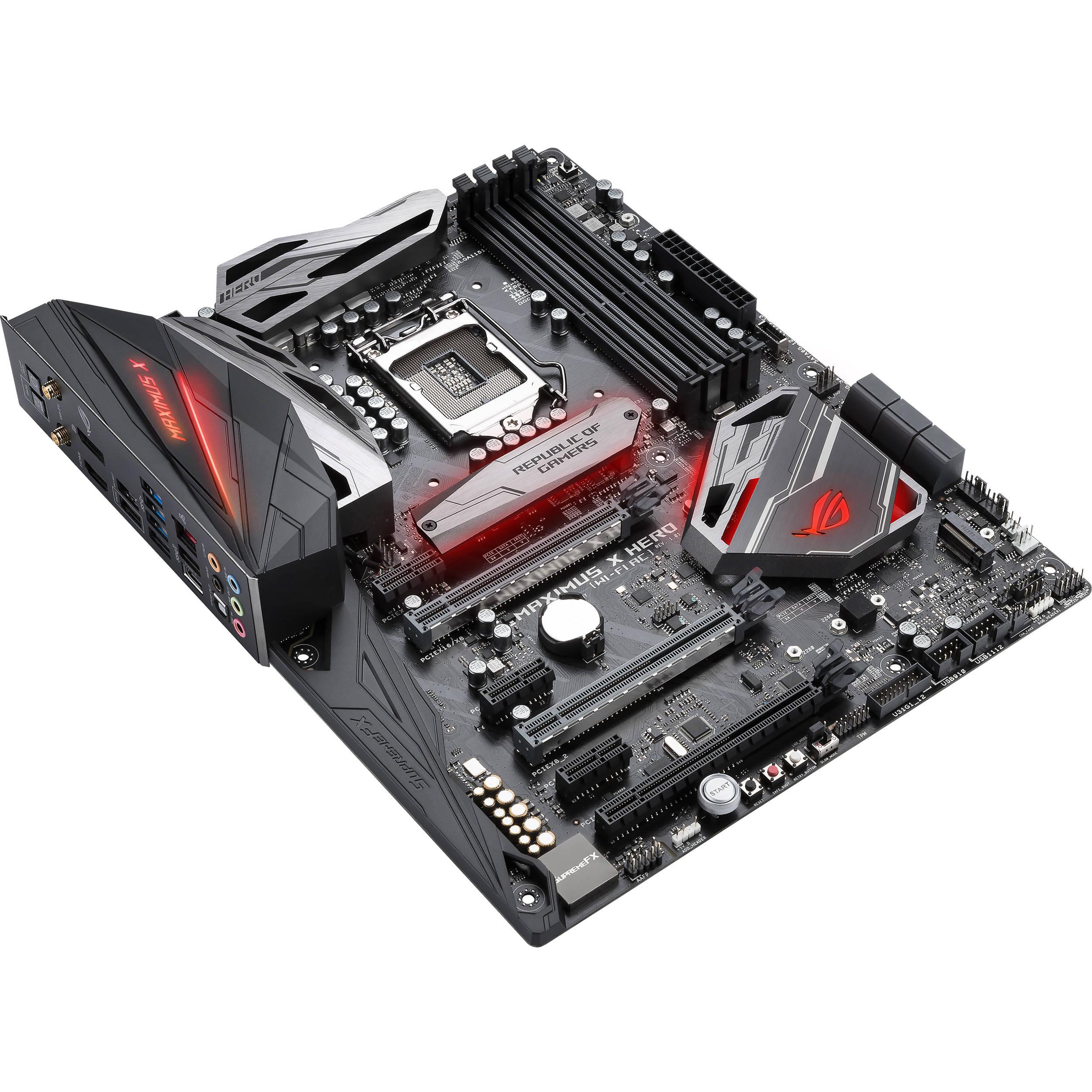 ASUS Republic of Gamers Maximus X Hero LGA1151 ATX Motherboard