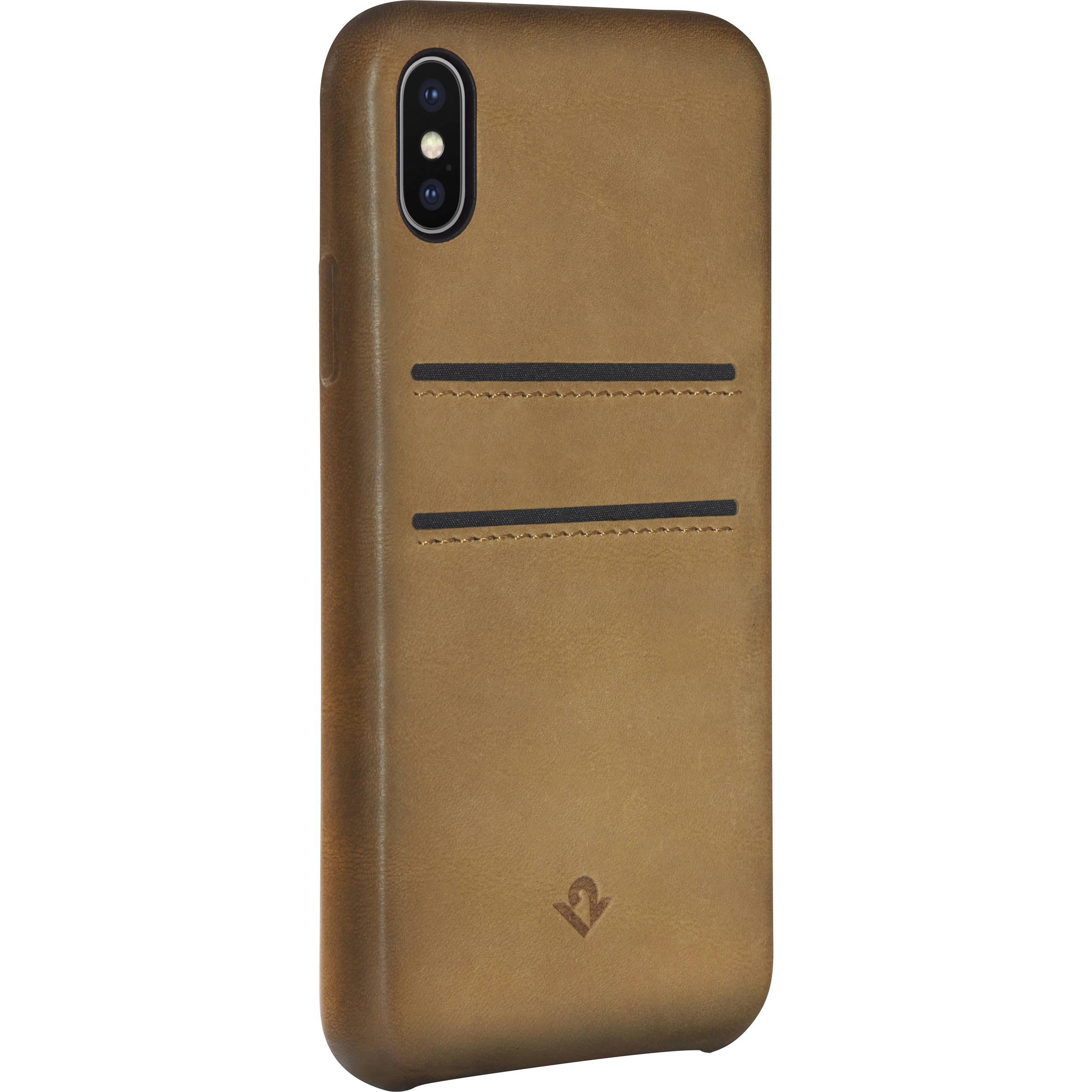 release date: c357d 2328e Twelve South Relaxed Leather Case with Pockets for iPhone X/Xs (Cognac)