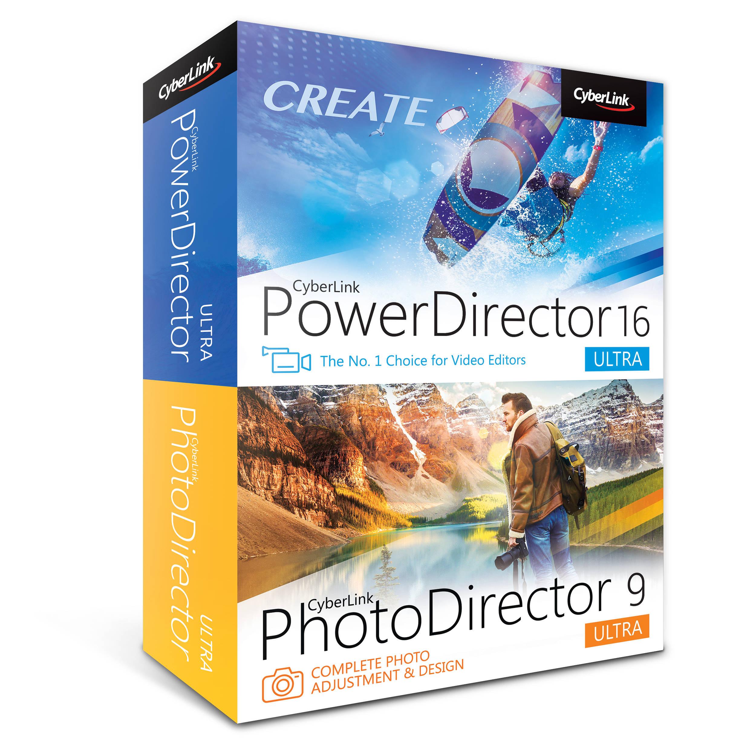 CyberLink PowerDirector 16 Ultra & PhotoDirector 9 Ultra (DVD)