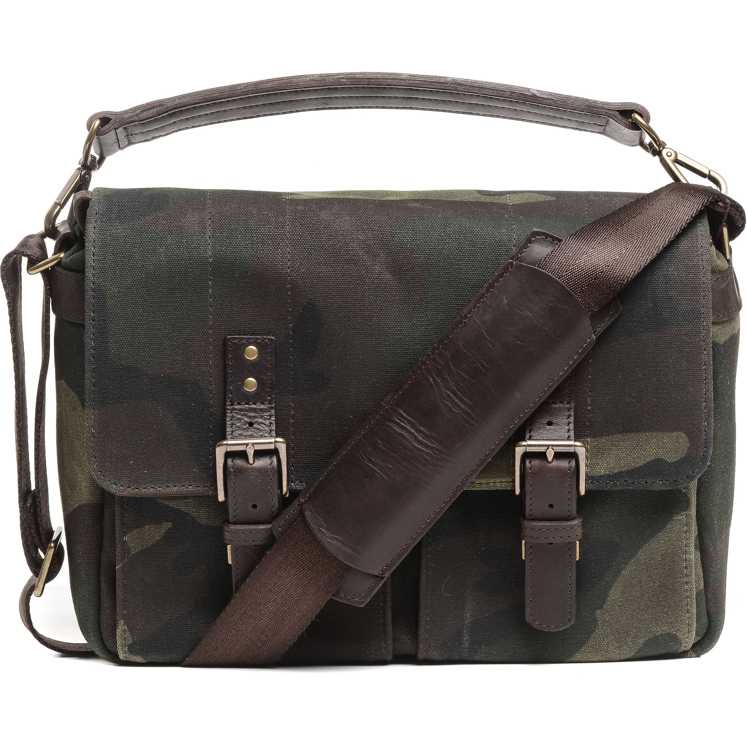 Ona Prince Street Camera Messenger Bag Camouflage Waxed Canvas
