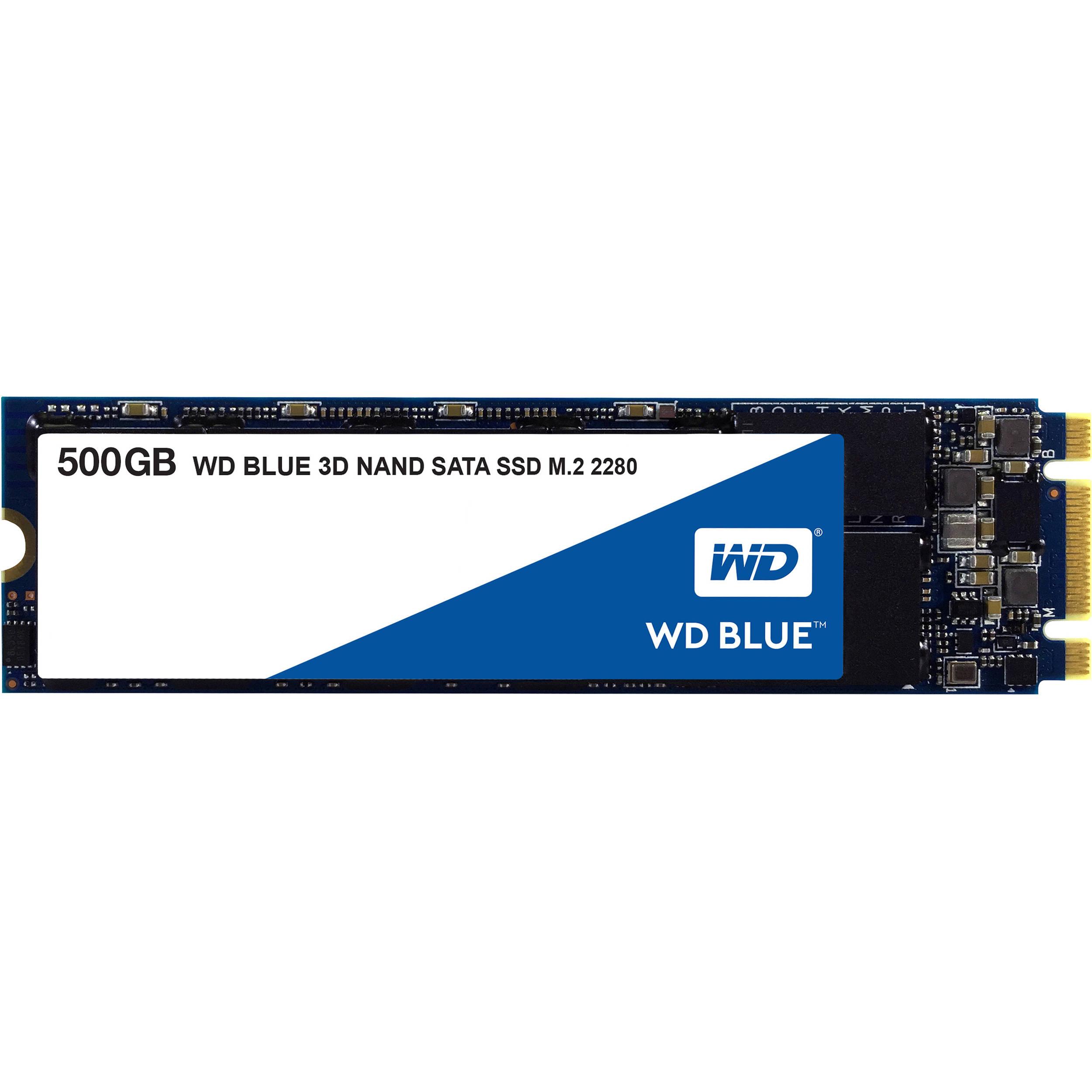 WD 500GB Blue 3D NAND SATA III M 2 2280 Internal SSD